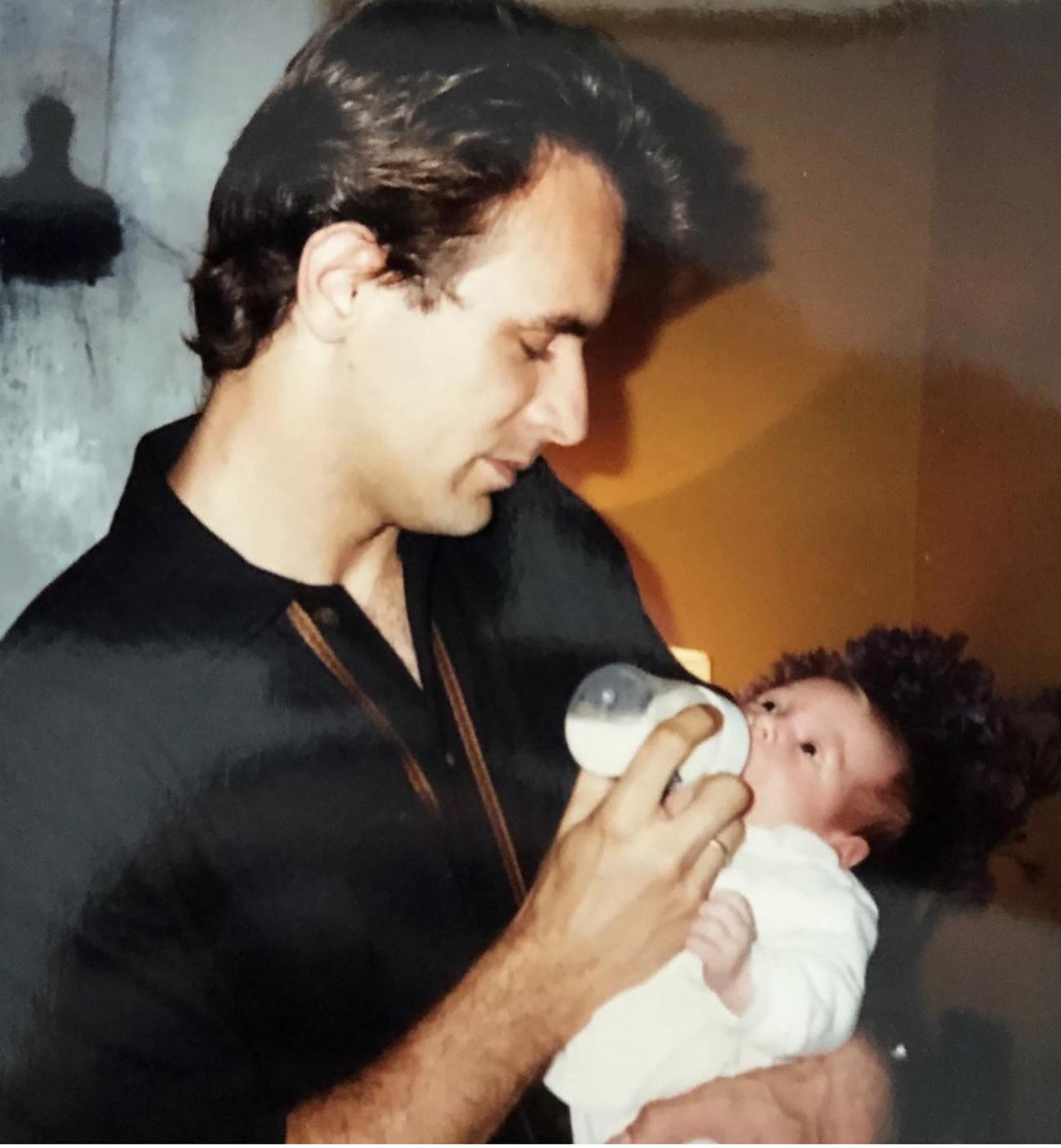 Lele Pons con su papa