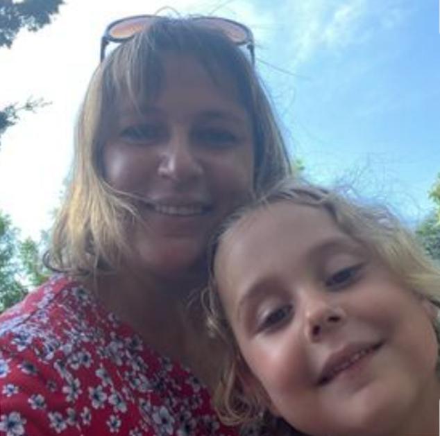 Oksana Patchin y hija Olivia