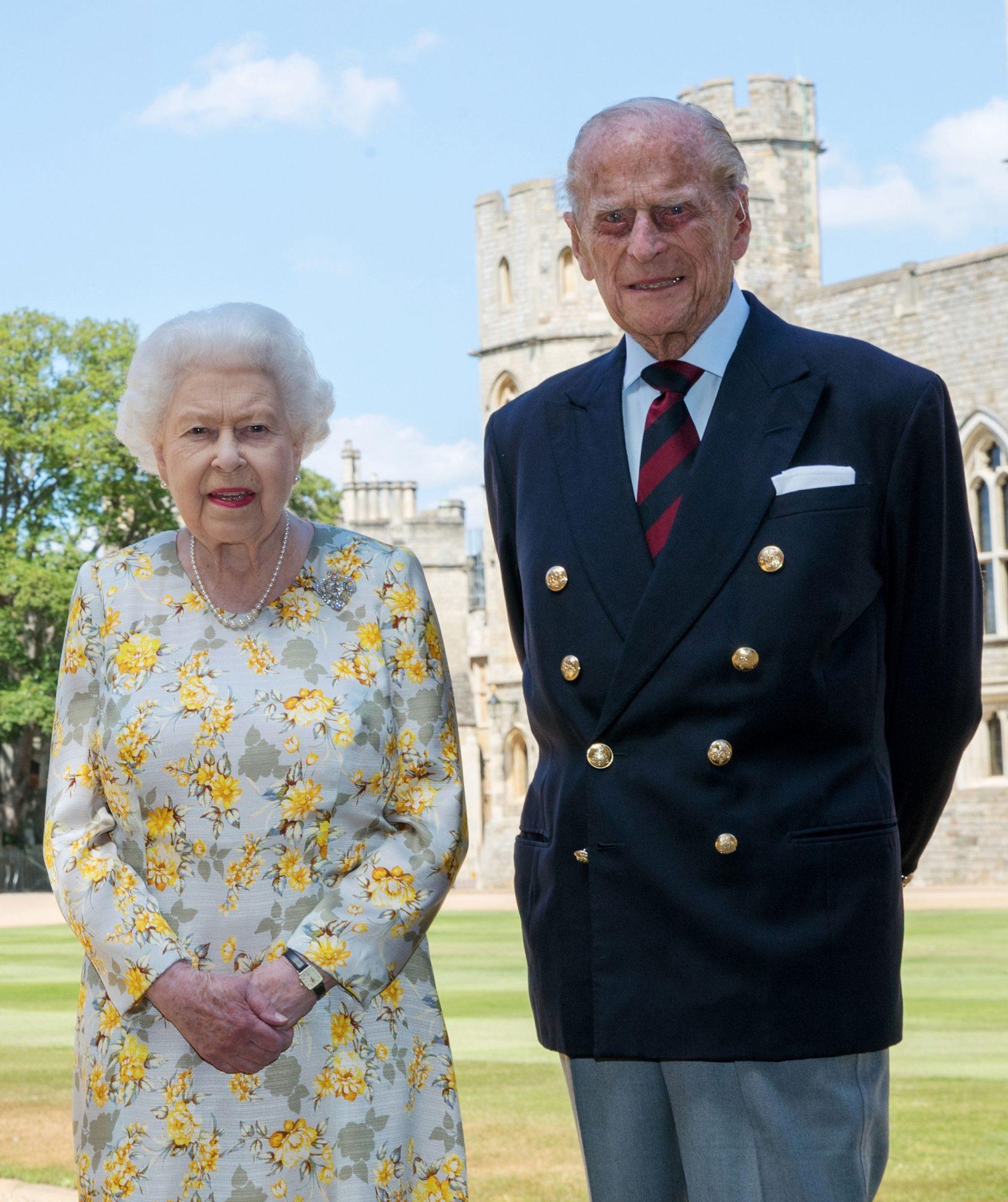 La reina Isabel II y su esposo, Felipe de Edimburgo
