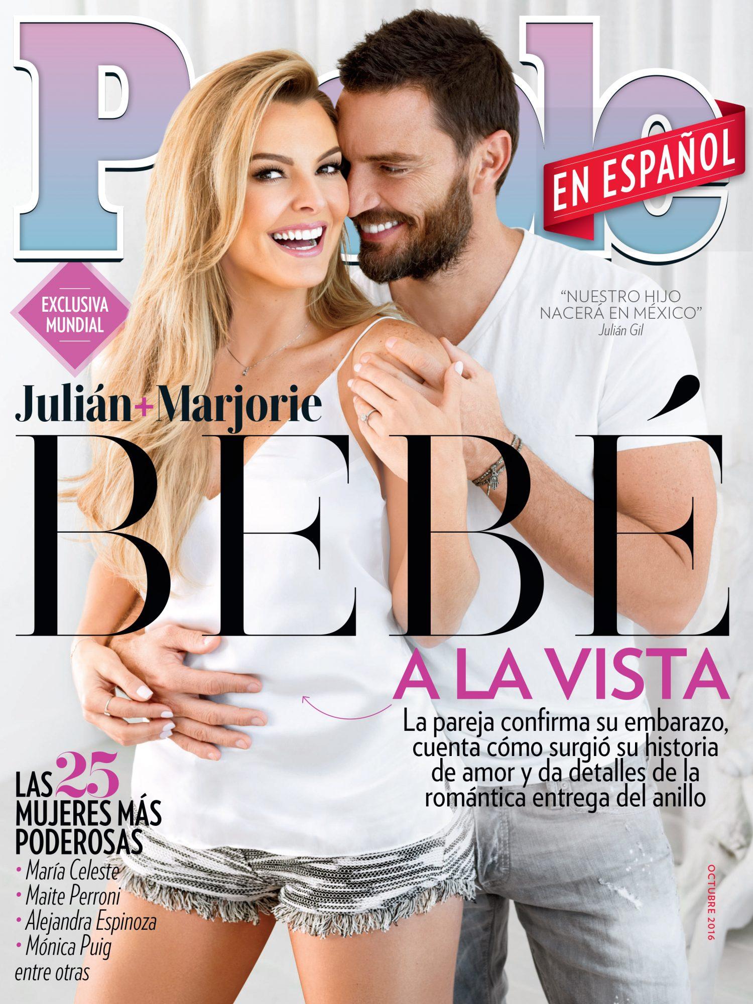 Octubre 2016 portada - Las 25 Mujeres Mas Poderosas Cover Majorie de Sousa y Julian Gil