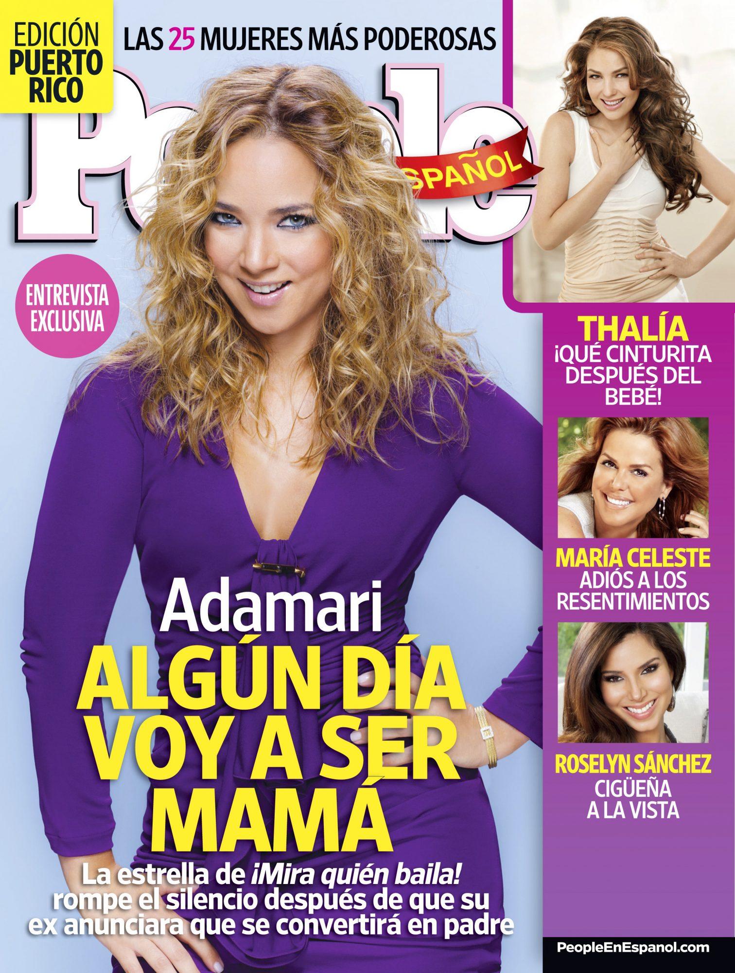 Noviembre 2011 portada - Las 25 Mujeres Mas Poderosas Cover Noviembre 2011 Adamari Lopez Cover