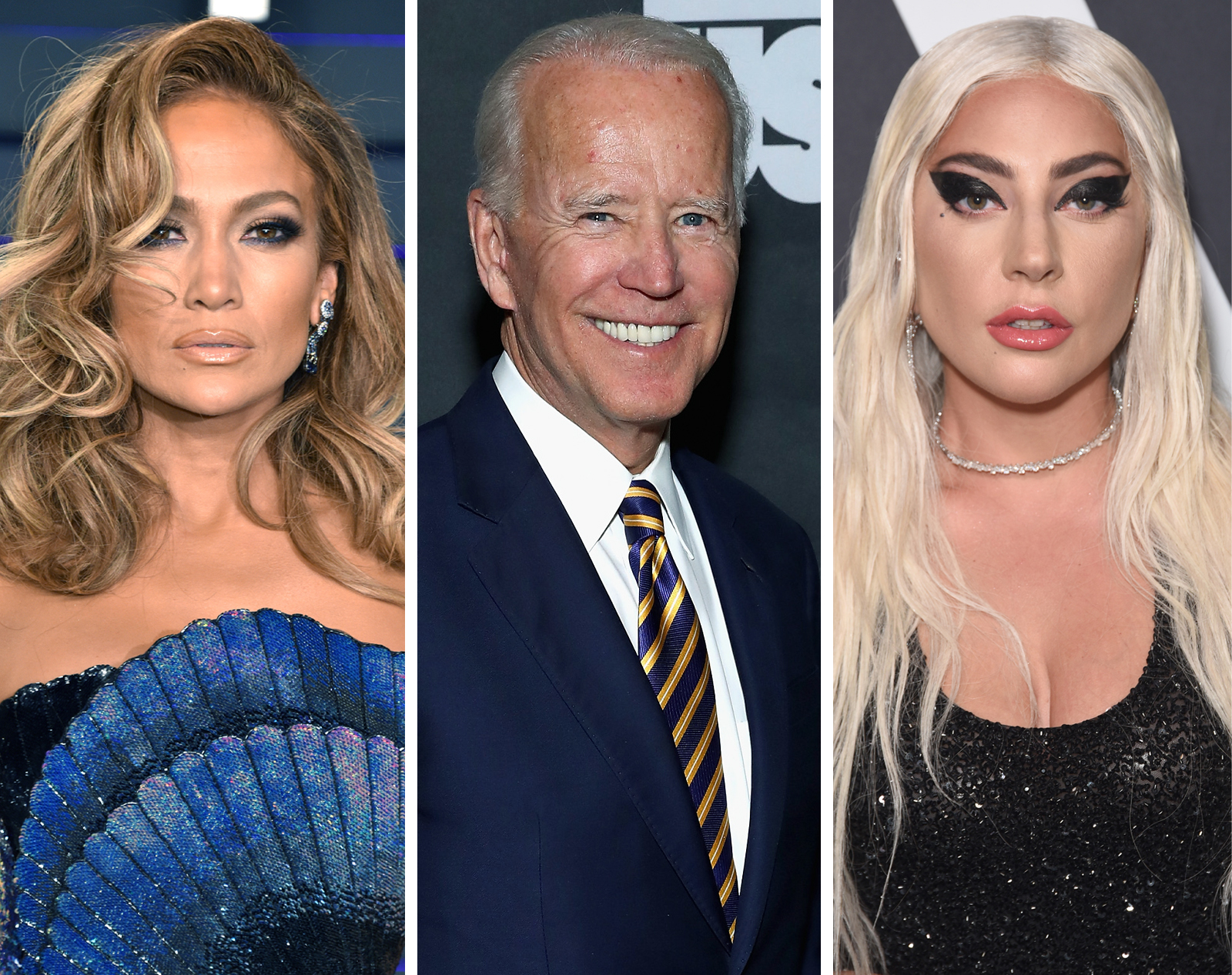 Jennifer Lopez, Joe Biden y Lady Gaga