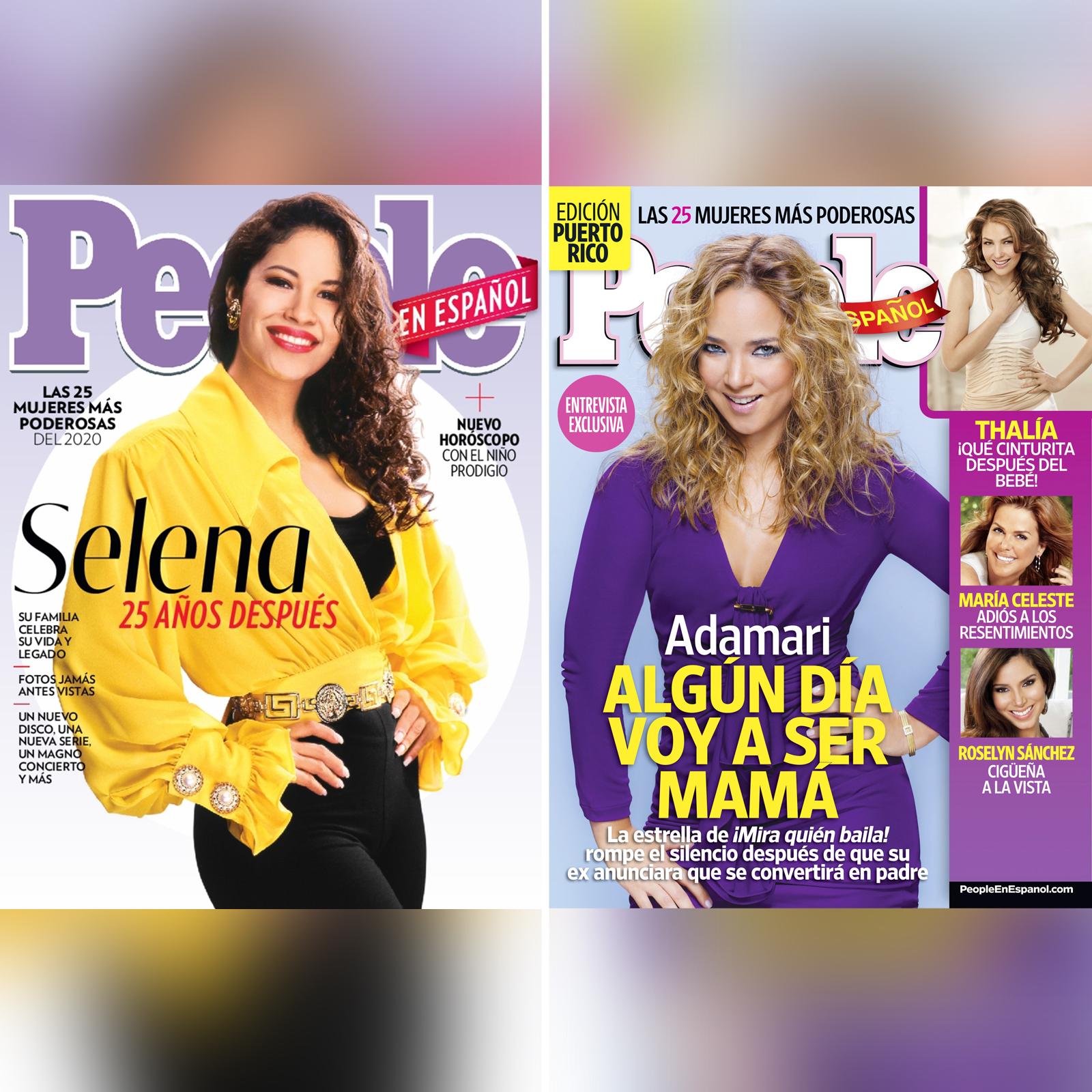 Selena y Adamari Lopez portadas – Las 25 Mujeres Mas Poderosas Covers