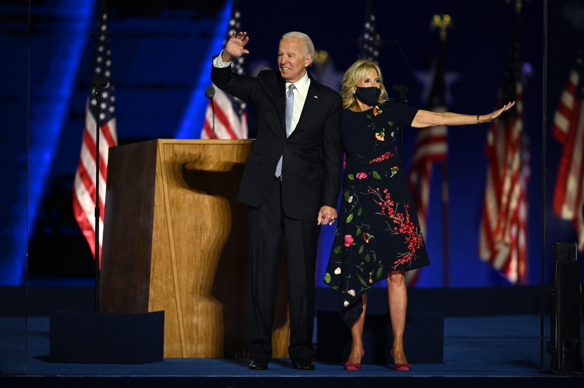 Jill Biden vestido Oscar de la renta
