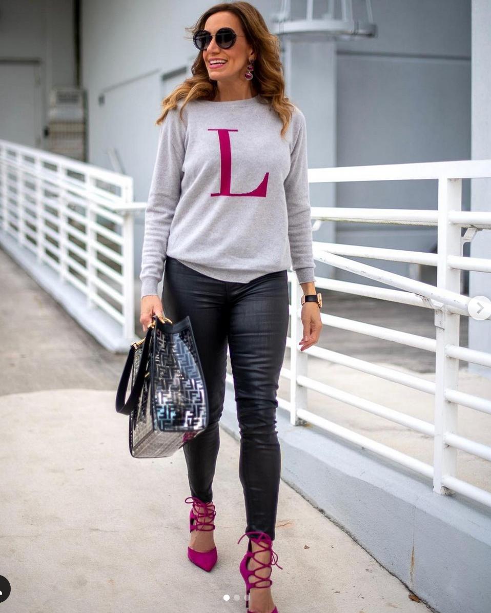 Lili estefan, look, pantalon de cuero, Miami