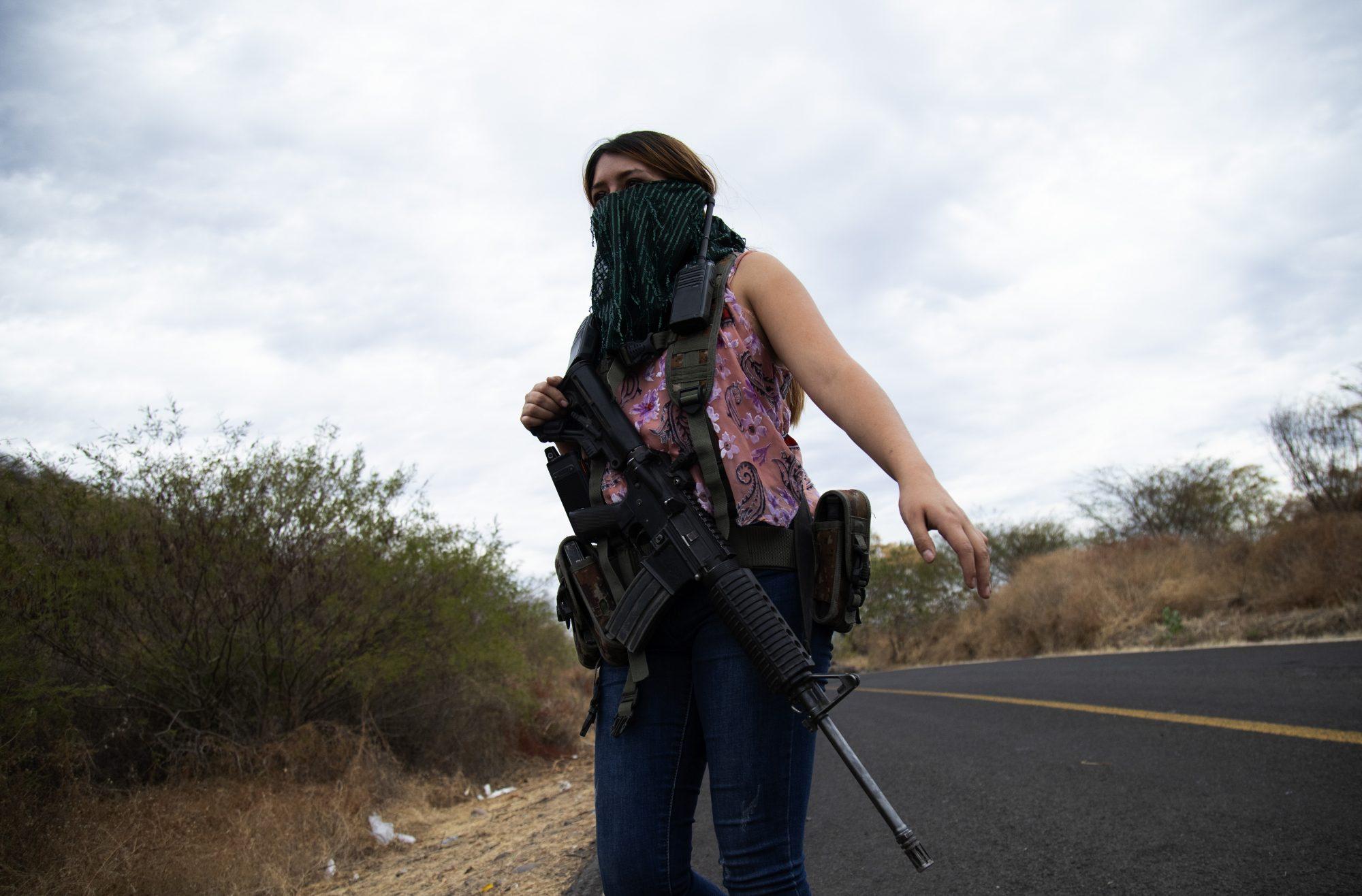 Female Vigilantes Por un Michoacan libre Female Vigilantes, El Terrero, Mexico - 13 Jan 2021