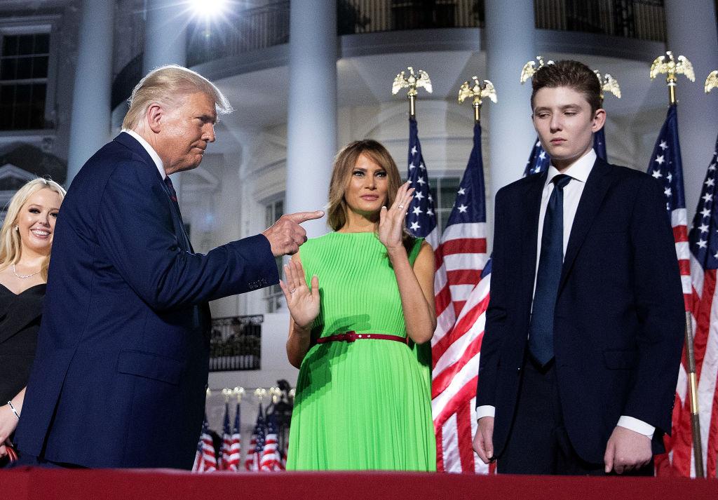Donald Trump Melania Barron
