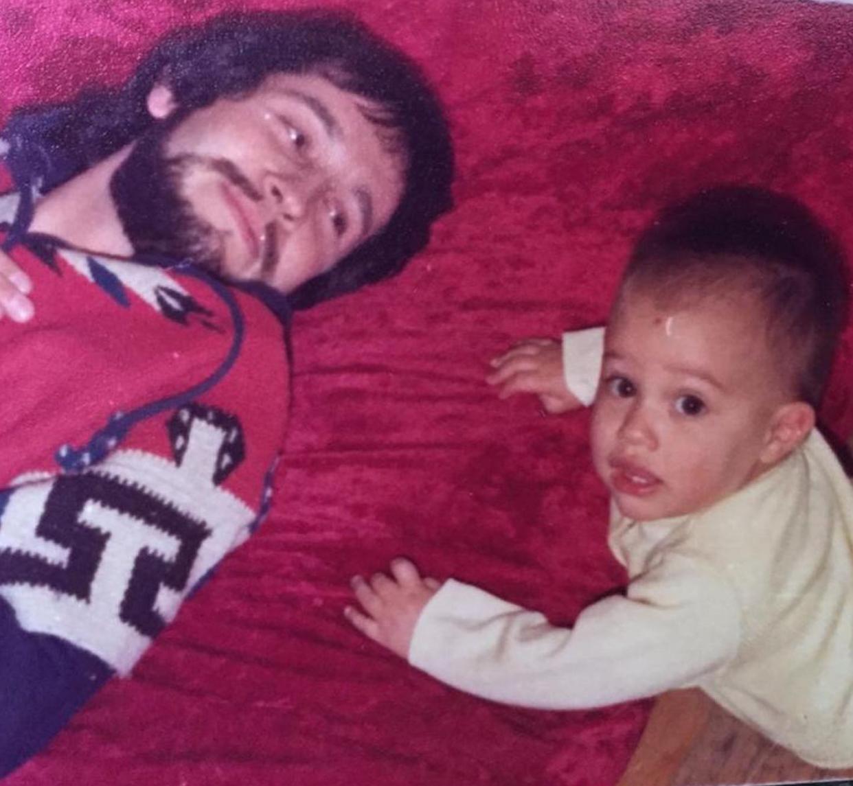Gael García con su padre