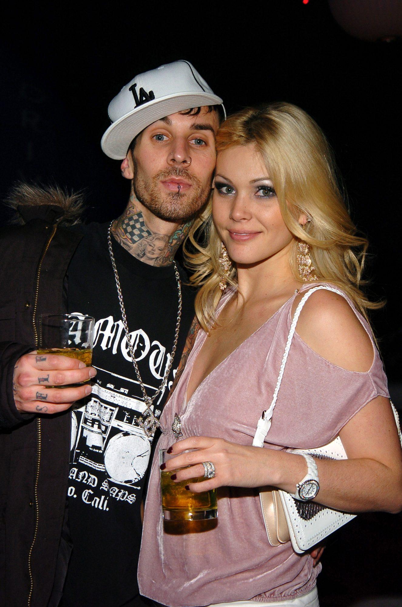 Travis Barker of Blink 182 with Shanna Moakler