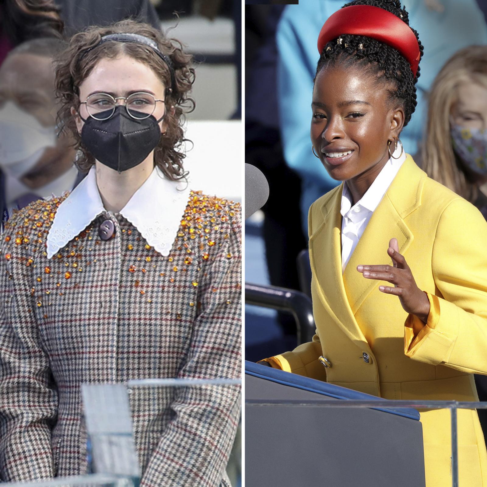 Ella Emhoff and Amanda Gorman on Inauguration Day 2021.
