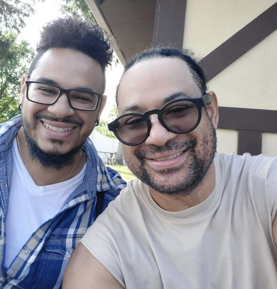 Luis Vargas y su hijo Luisito