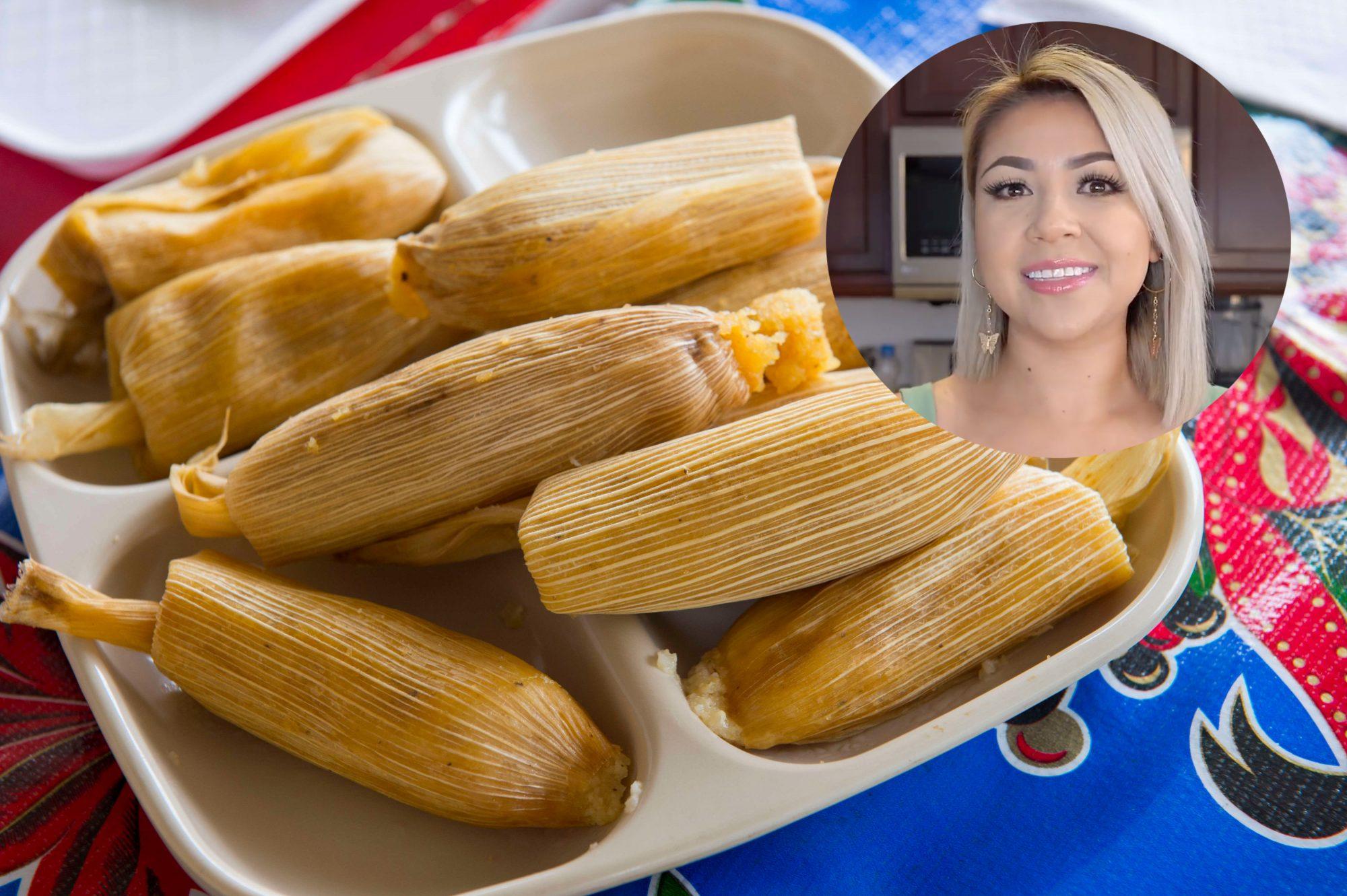 Tamales de dulce chef Claudia Regalado