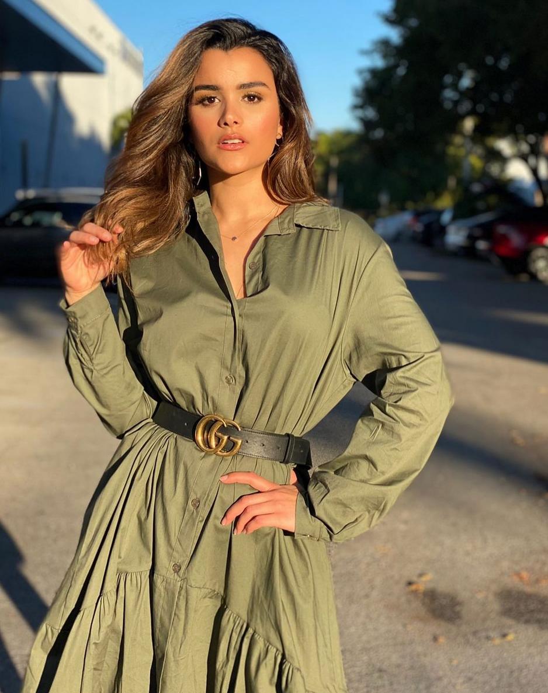 Clarissa Molina, look, miami, vestido verde