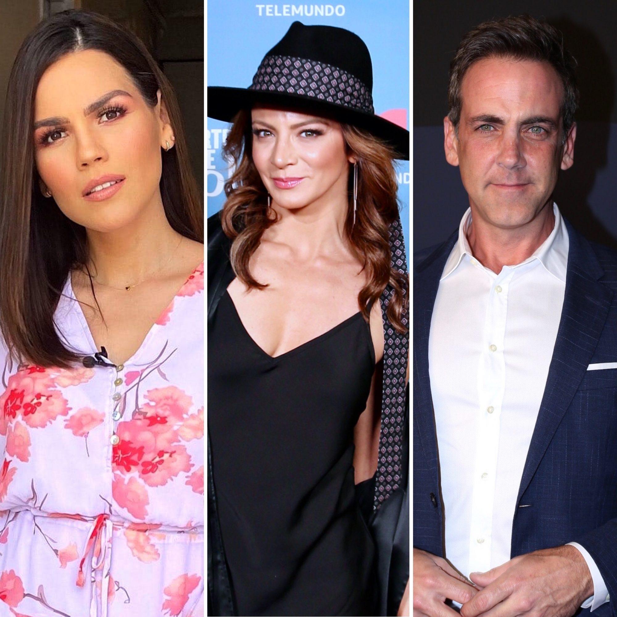 Karina Banda, Silvia Navarro y Carlos Ponce