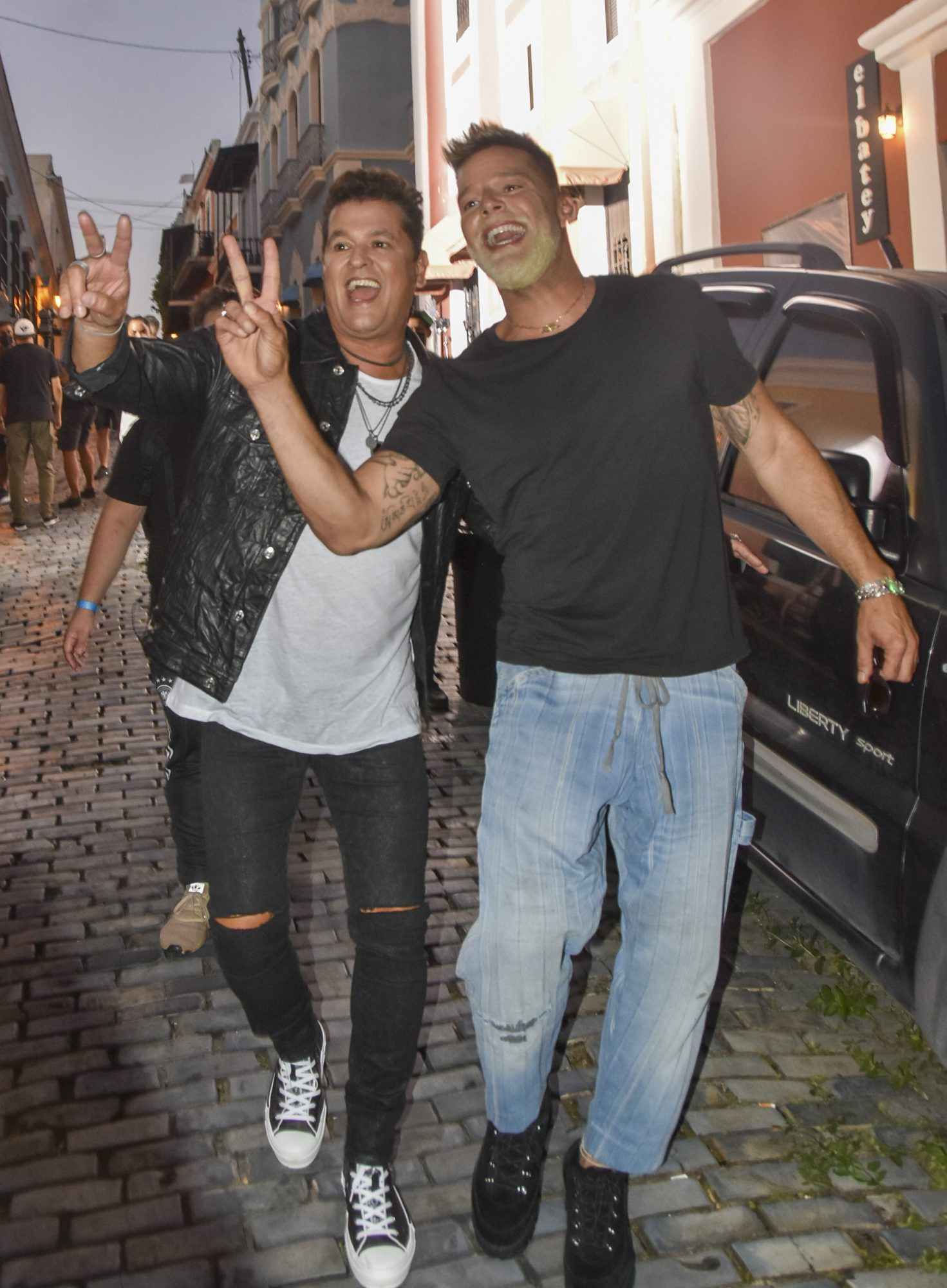 Ricky Martin and Carlos Vives Film a New VIdeo in Puerto Rico