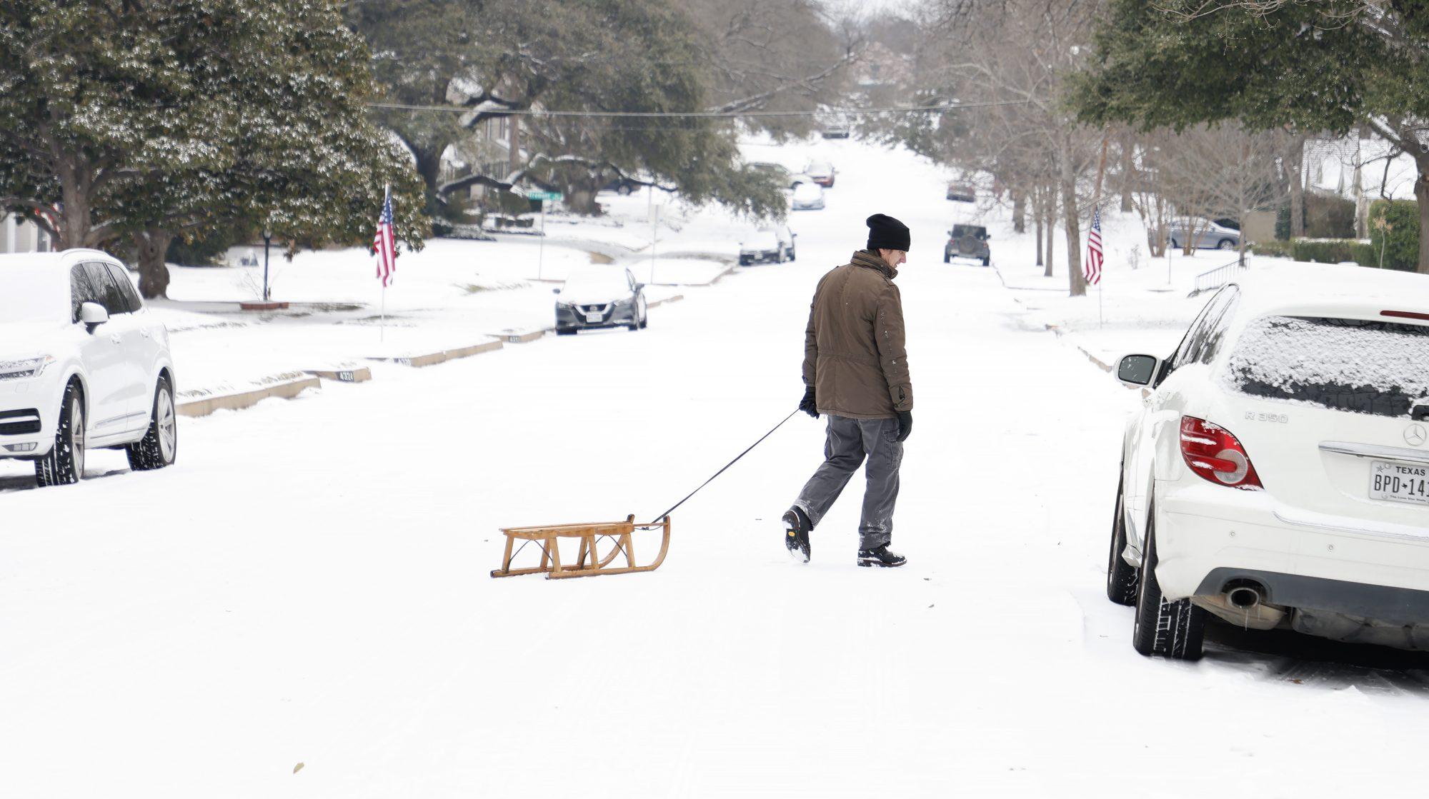 Tormental invernal en Texas