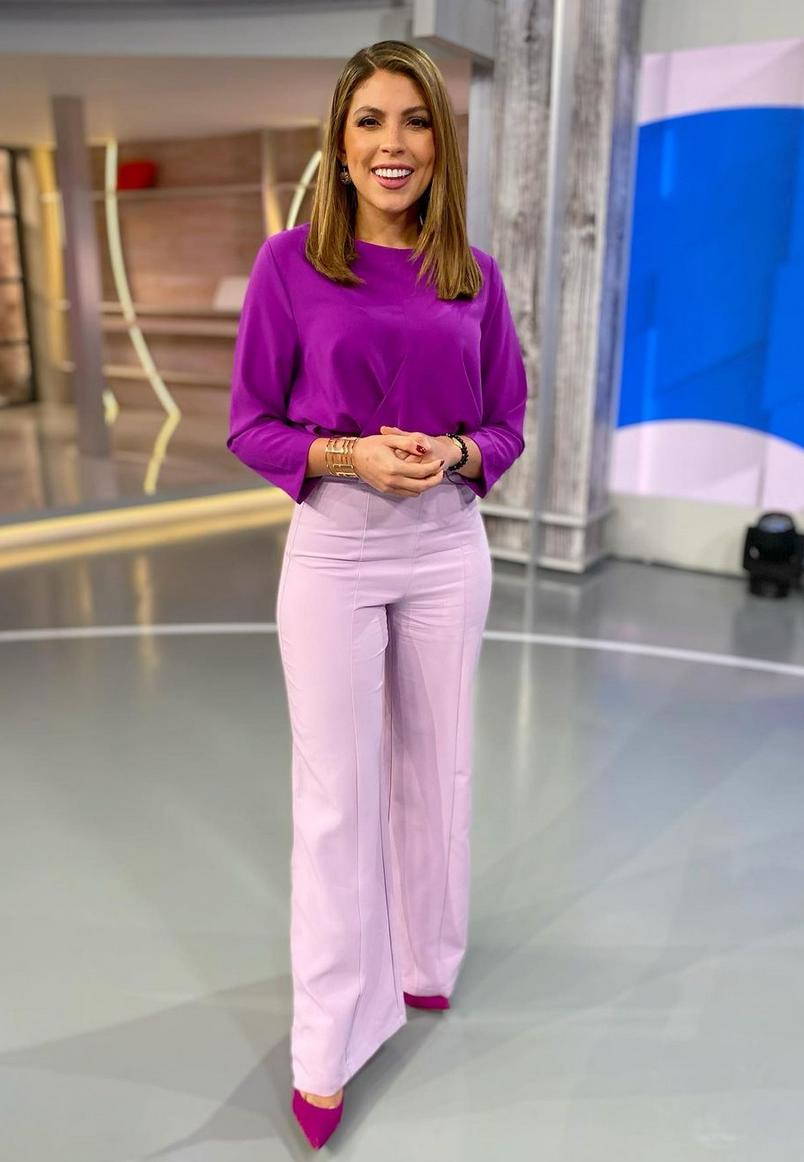 Nicole Suarez, look del dia, hoy dia, telemundo