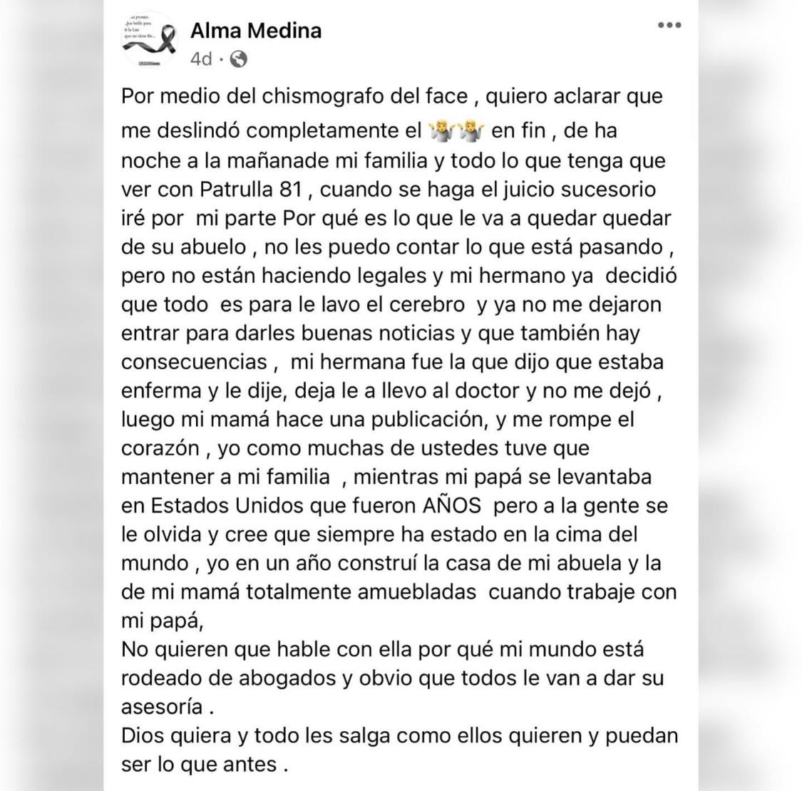FACEBOOK Alma Medina