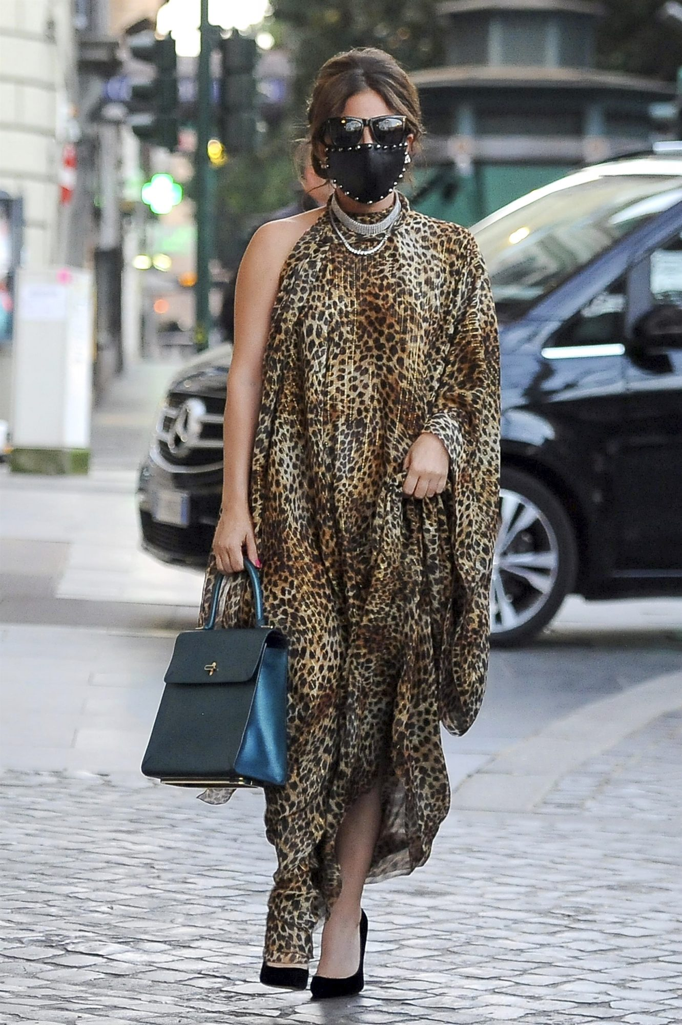 Lady Gaga, look del dia, vestido estampado de leopardo, Roma, italia