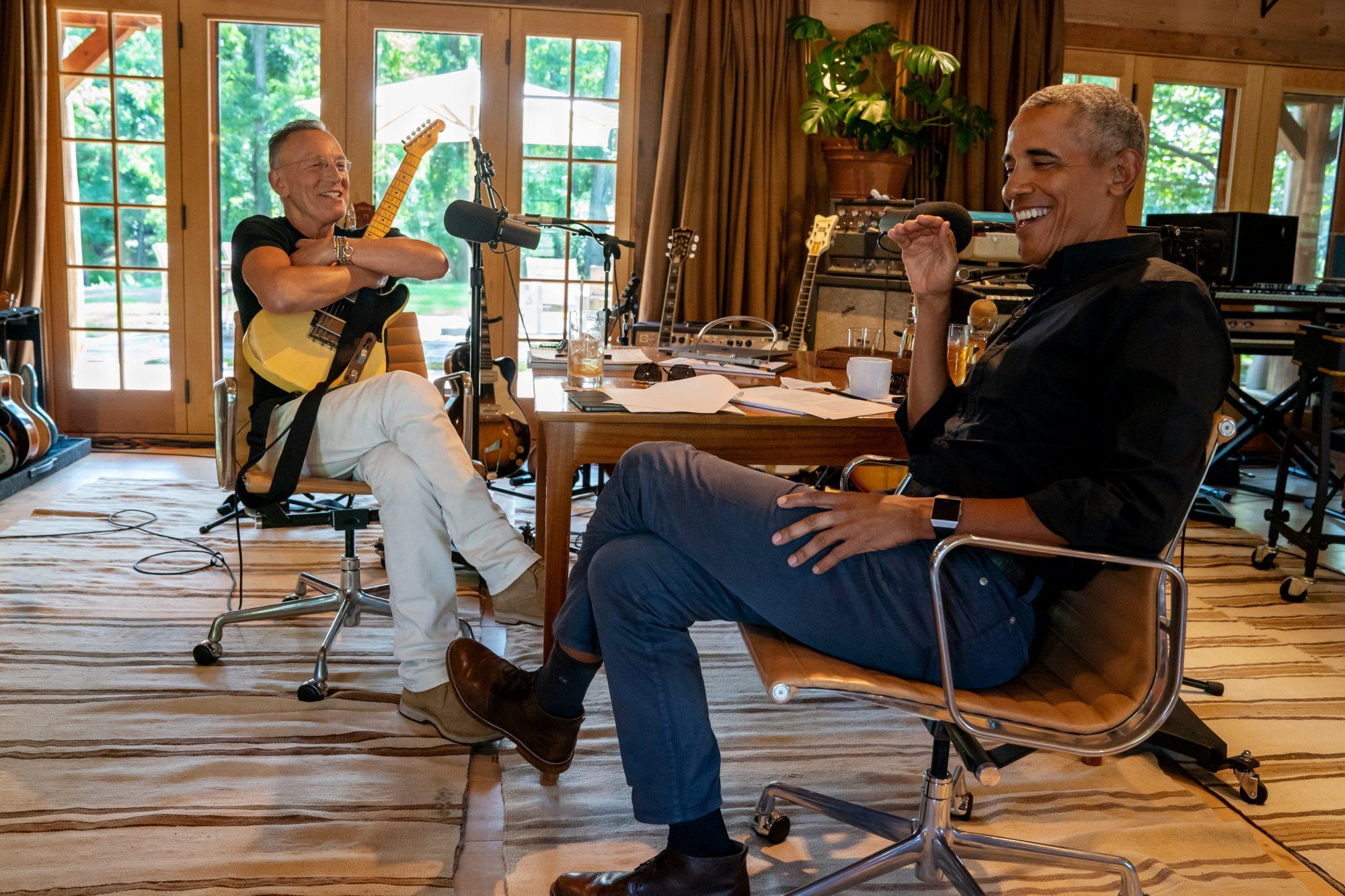 Barack Obama y Bruce Springsteen