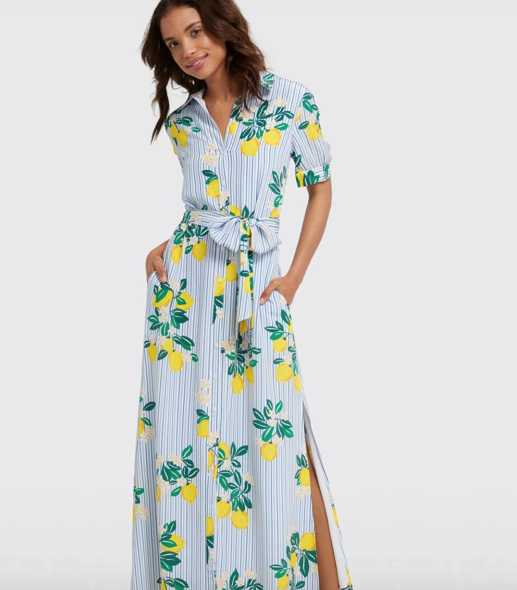 Vestido con estampado de limones, meghan Markle,