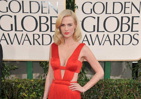 January Jones repite vestido Golden Globes