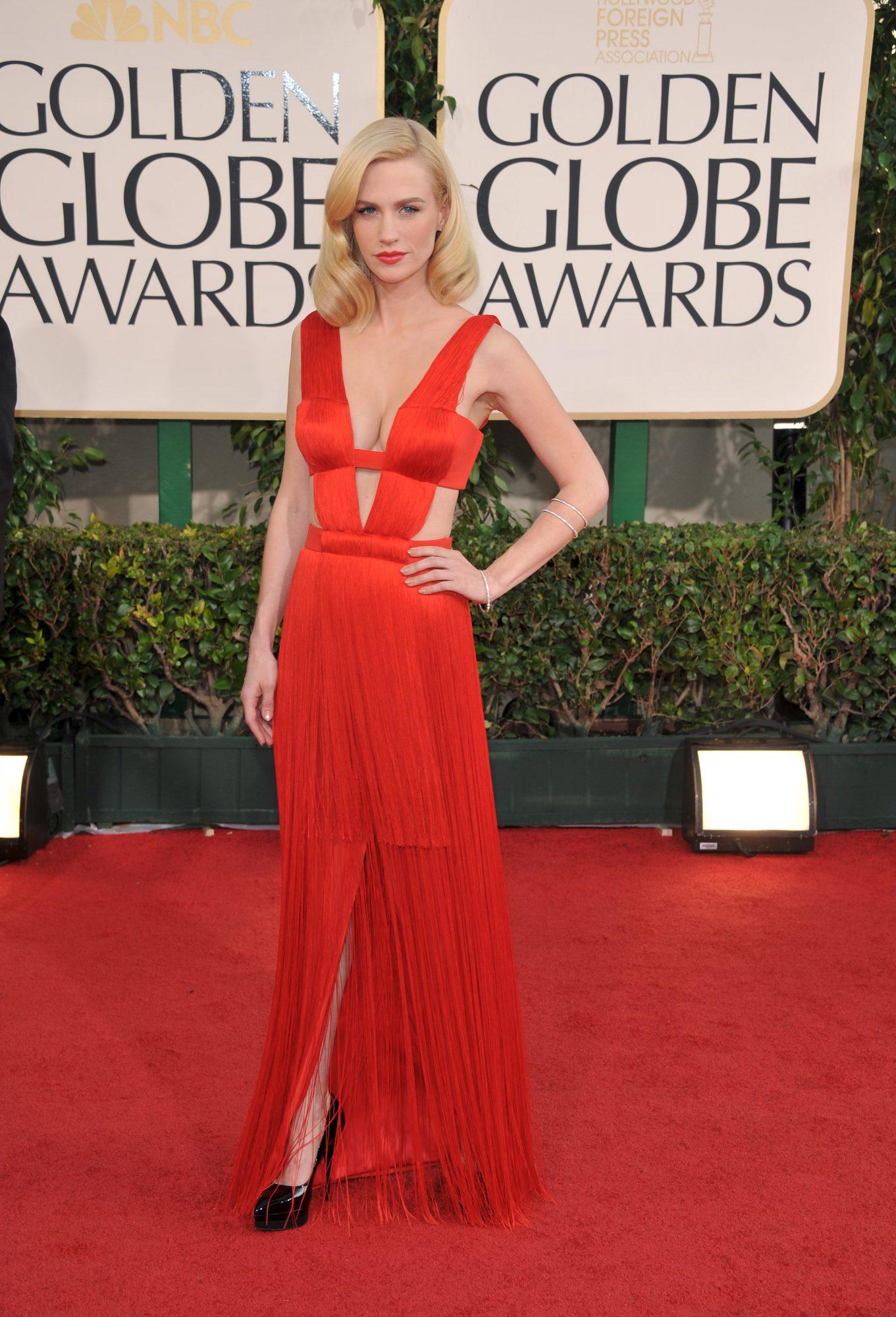 January Jones repite vestido Golden Globes
