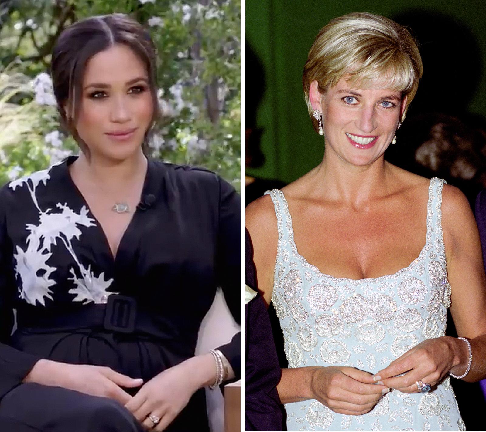 Meghan Markle y princesa Diana, entrevista con Oprah Winfrey