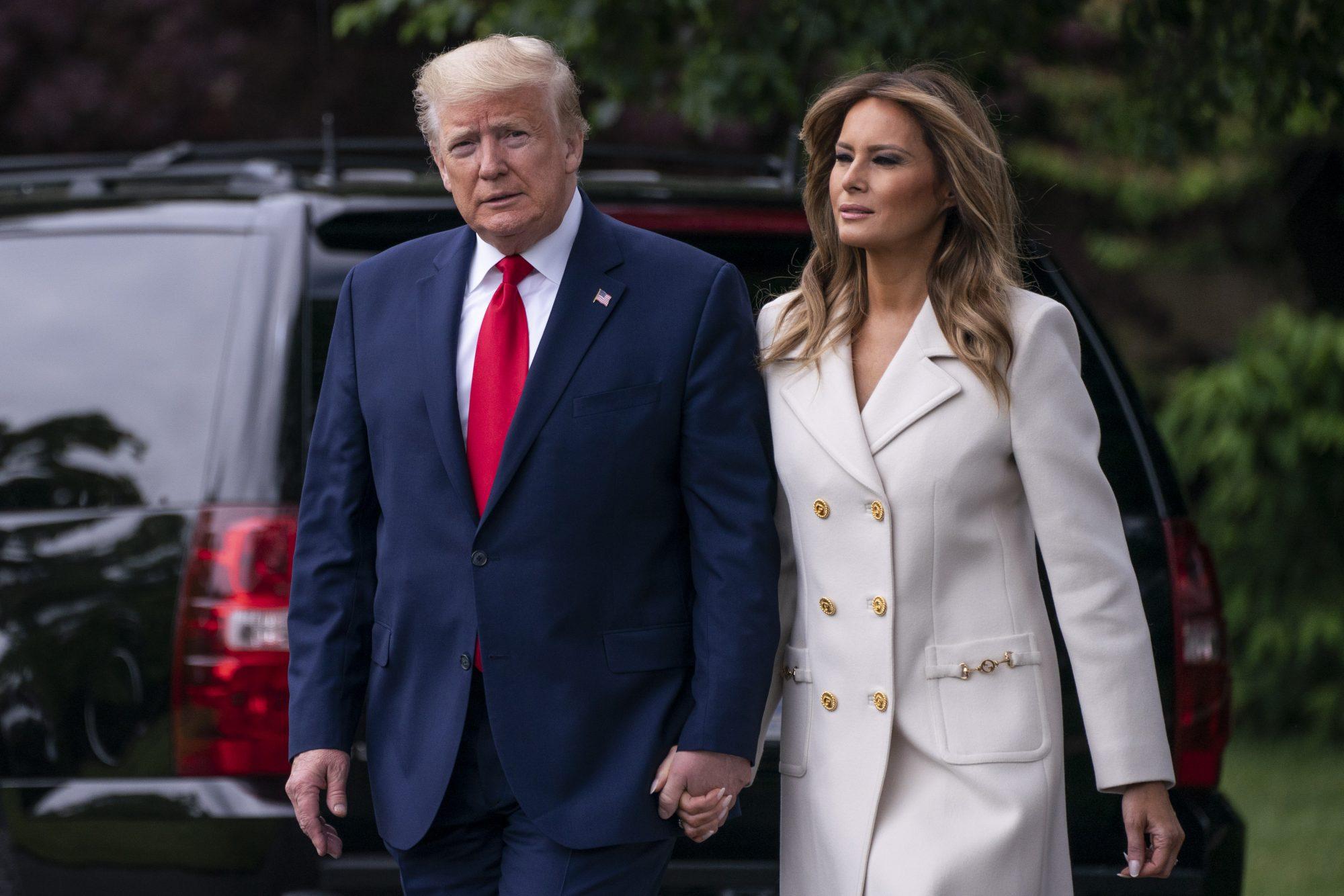 Donald Tump y Melania Trump en la casa Casa Blaca