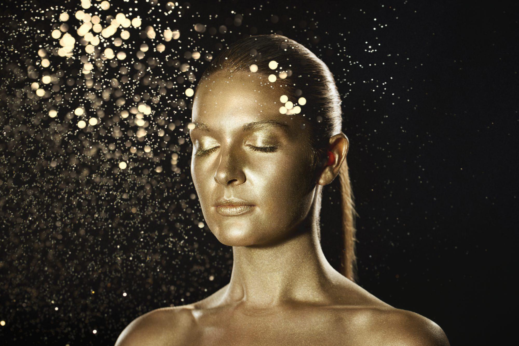 Oro ingrediente de belleza piel