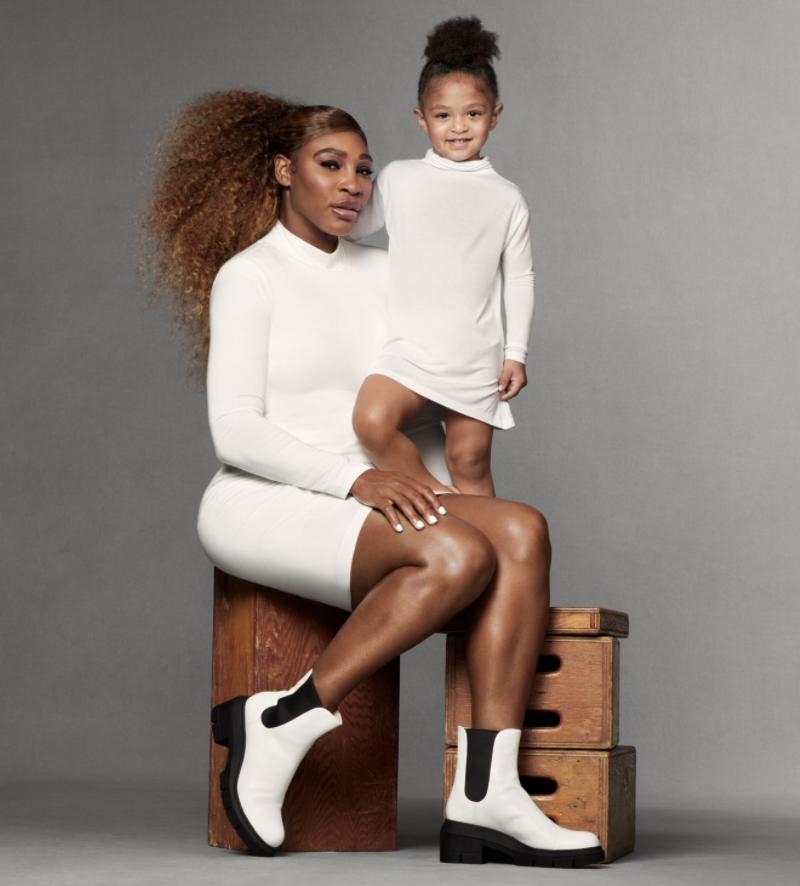 Serena Williams, hija de serena Williams, Alexis Olympian Ohaian, modelo, campaña Stuart Weitzman