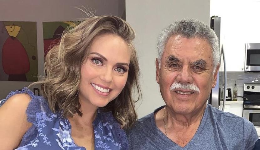 Jessica Carrillo y su padre