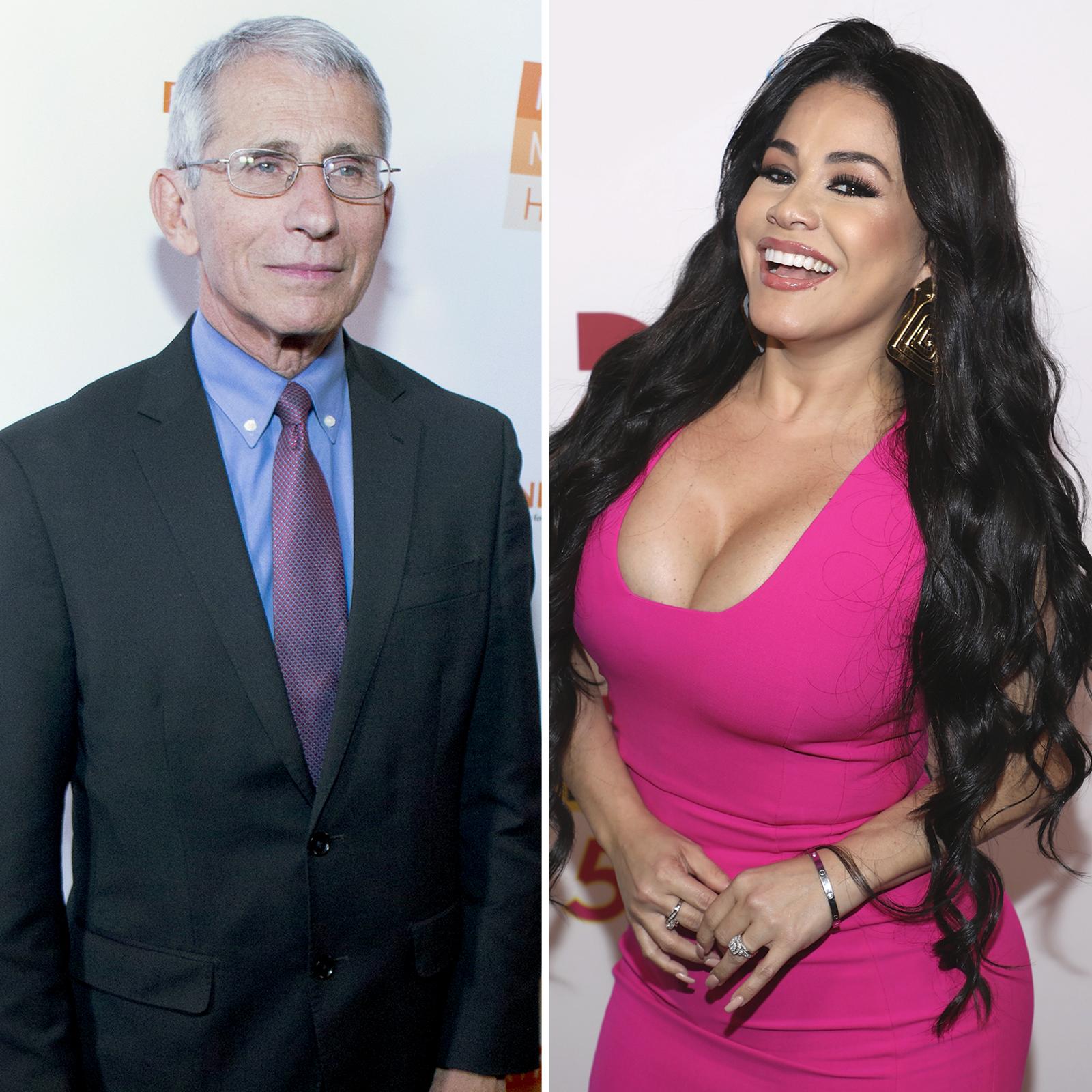 Dr. Anthony Fauci y Carolina Sandoval