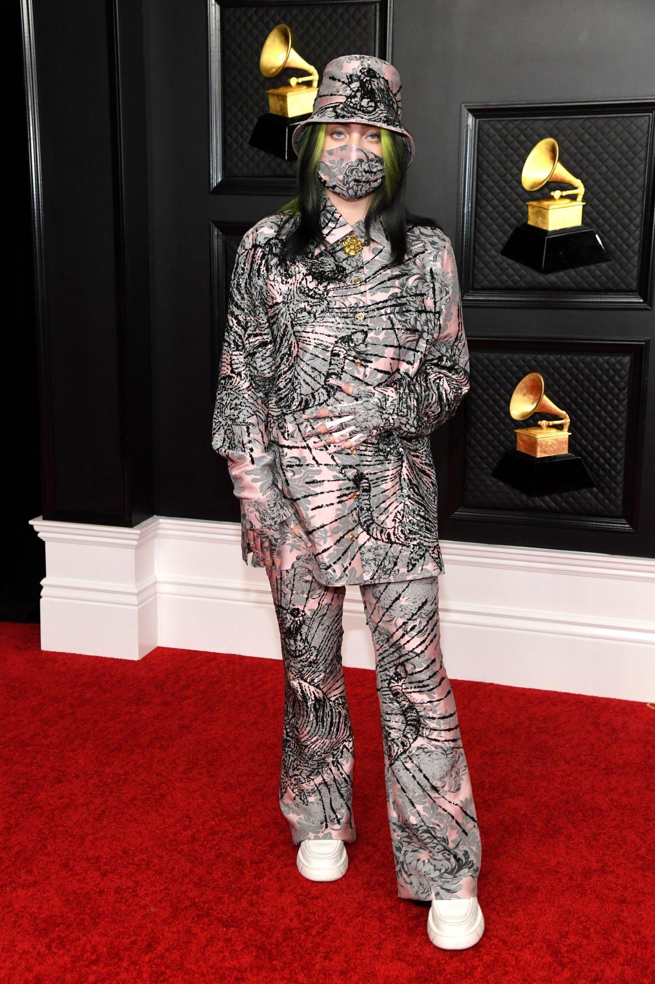 Billie Eillish, look, Grammy 2021