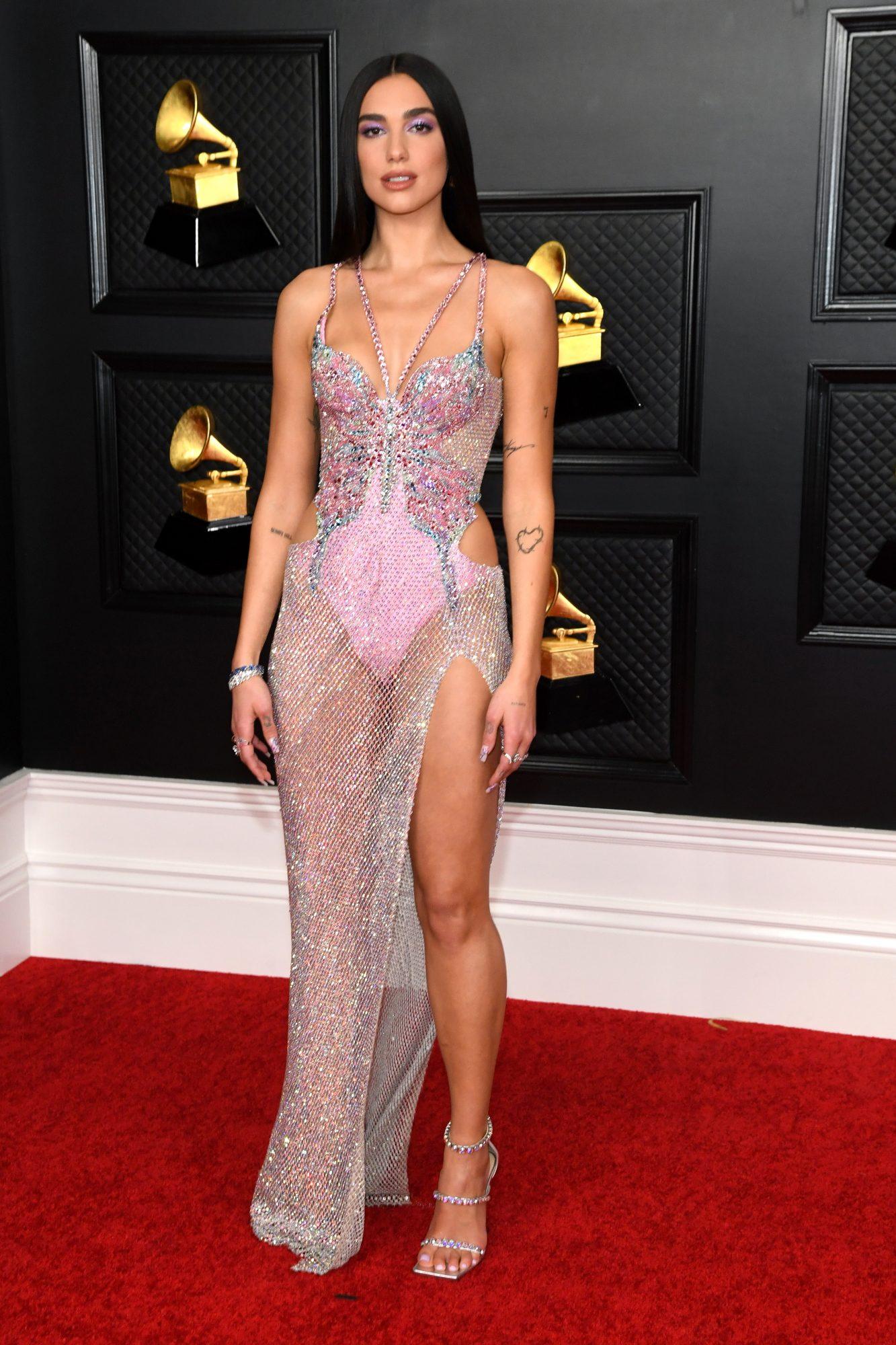 Dua Lipa, look, vestido, Grammy 2021