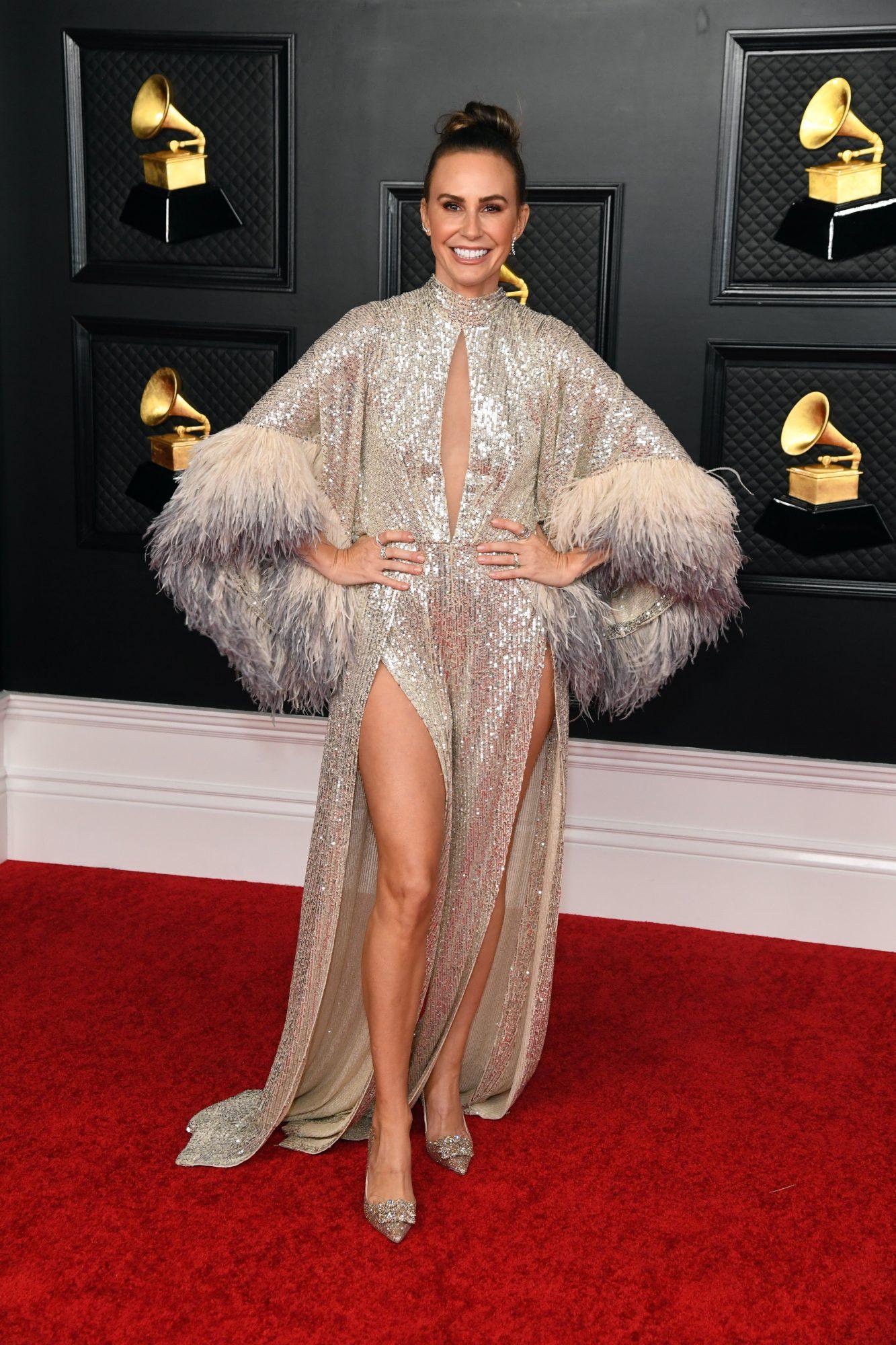 Keltie Knight, look, vestido, Grammy 2021