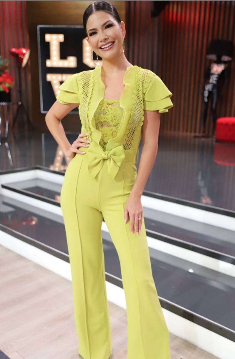 Ana Patricia, look del dia, jumpsuit verde, primavera, miami