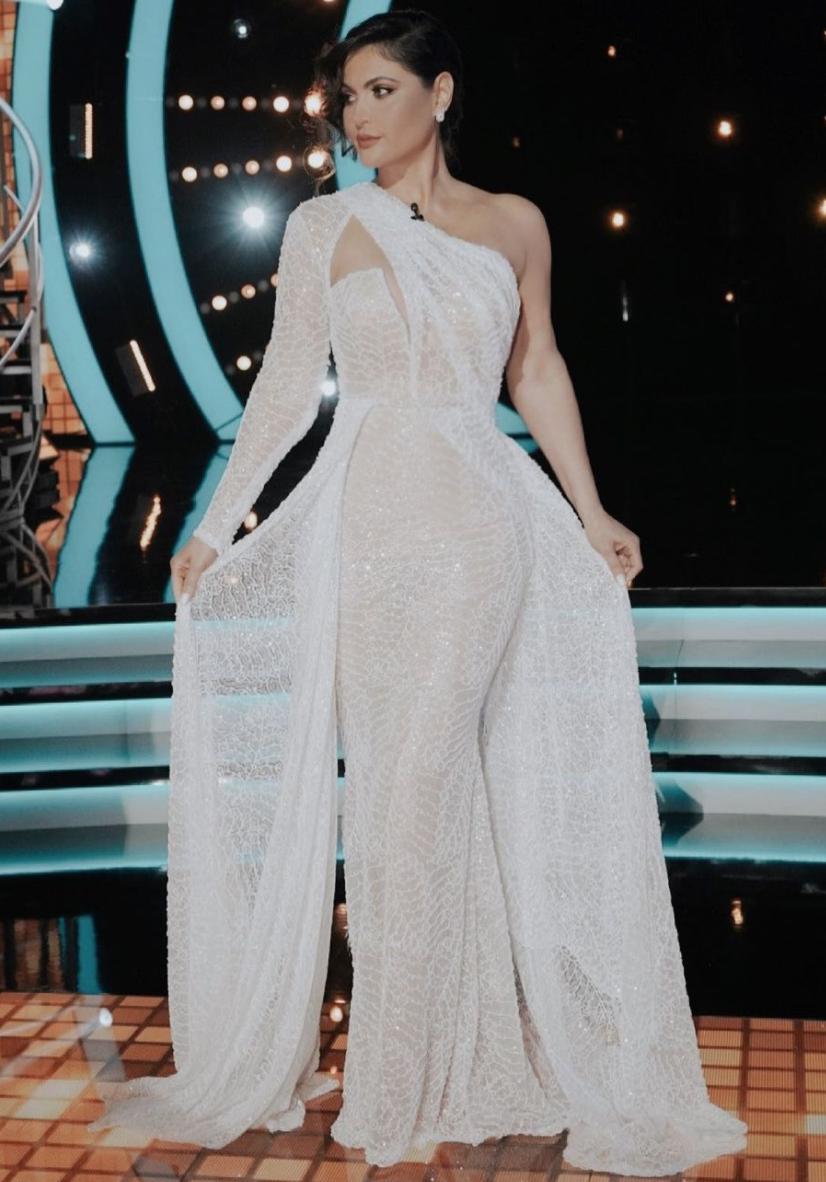 Chiquinquira Delgado, vestido blanco, look del dia, mira quien baila