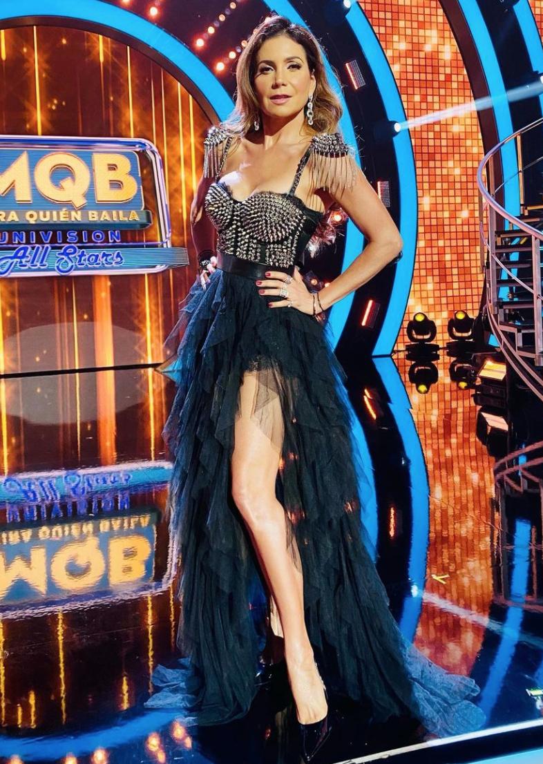 Pati Manterola, look del dia, vestido negro, mira quien baila