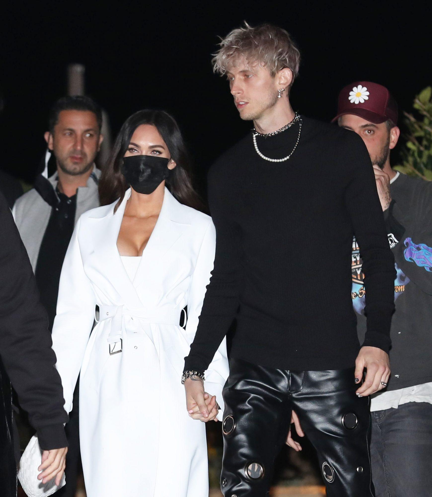 Megan Fox & Machine Gun Kelly Enjoy a Romantic Dinner Date in Malibu