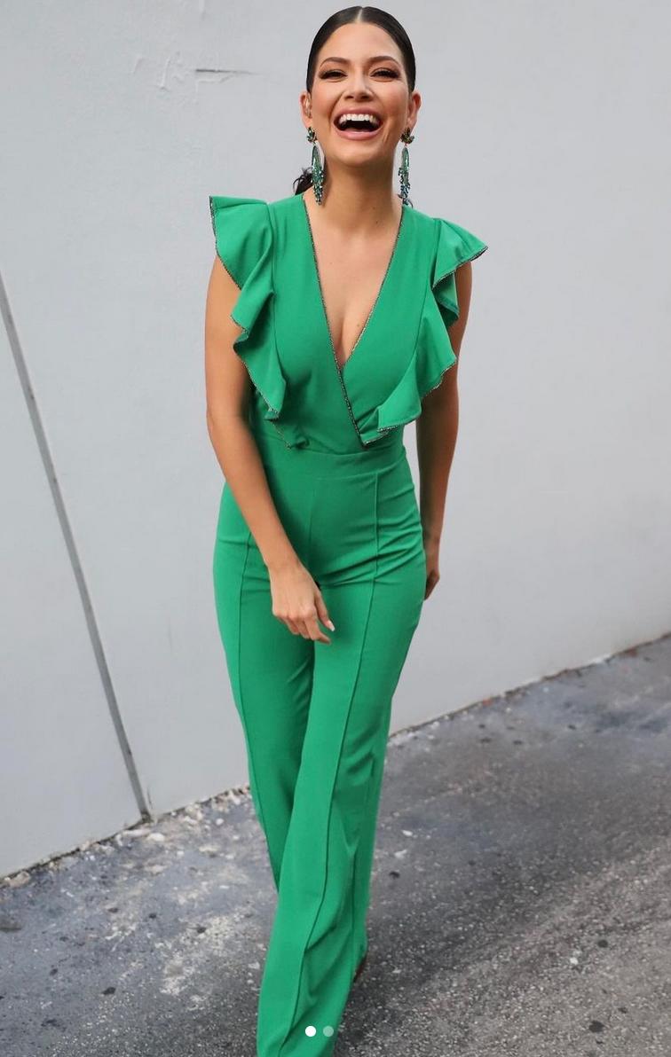 Ana Patricia, look del dia, jumpsuit verde