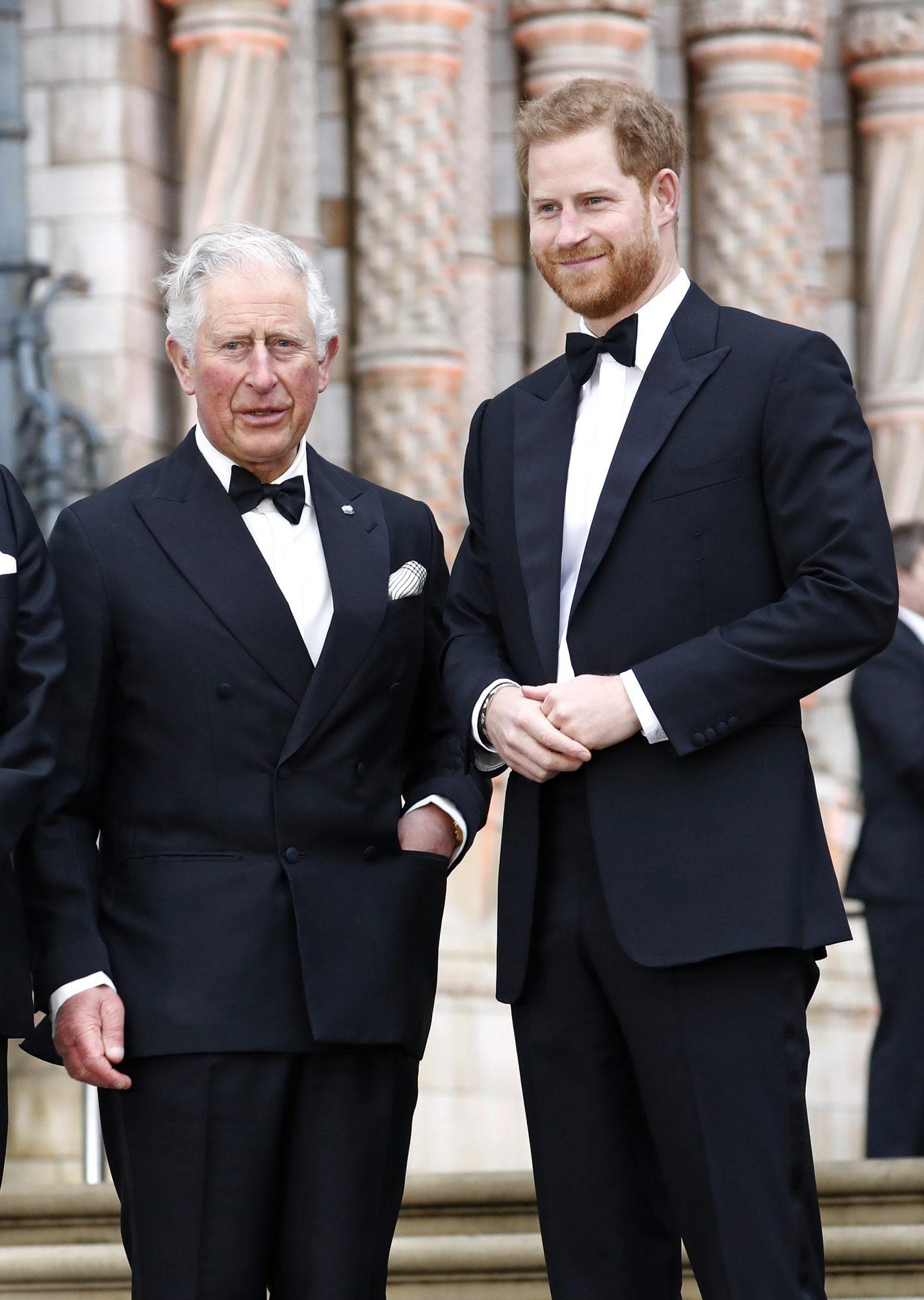 Prince Charles y Prince Harry