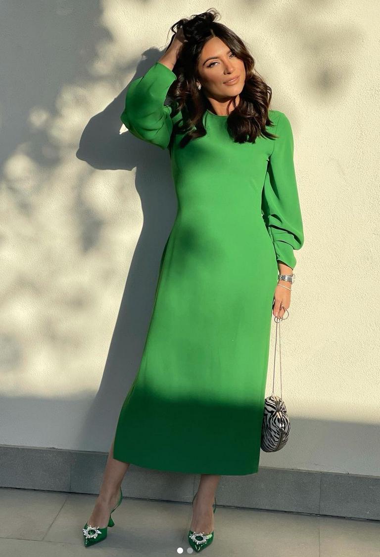 Ana Brenda, vestido verde, colombia, look del dia