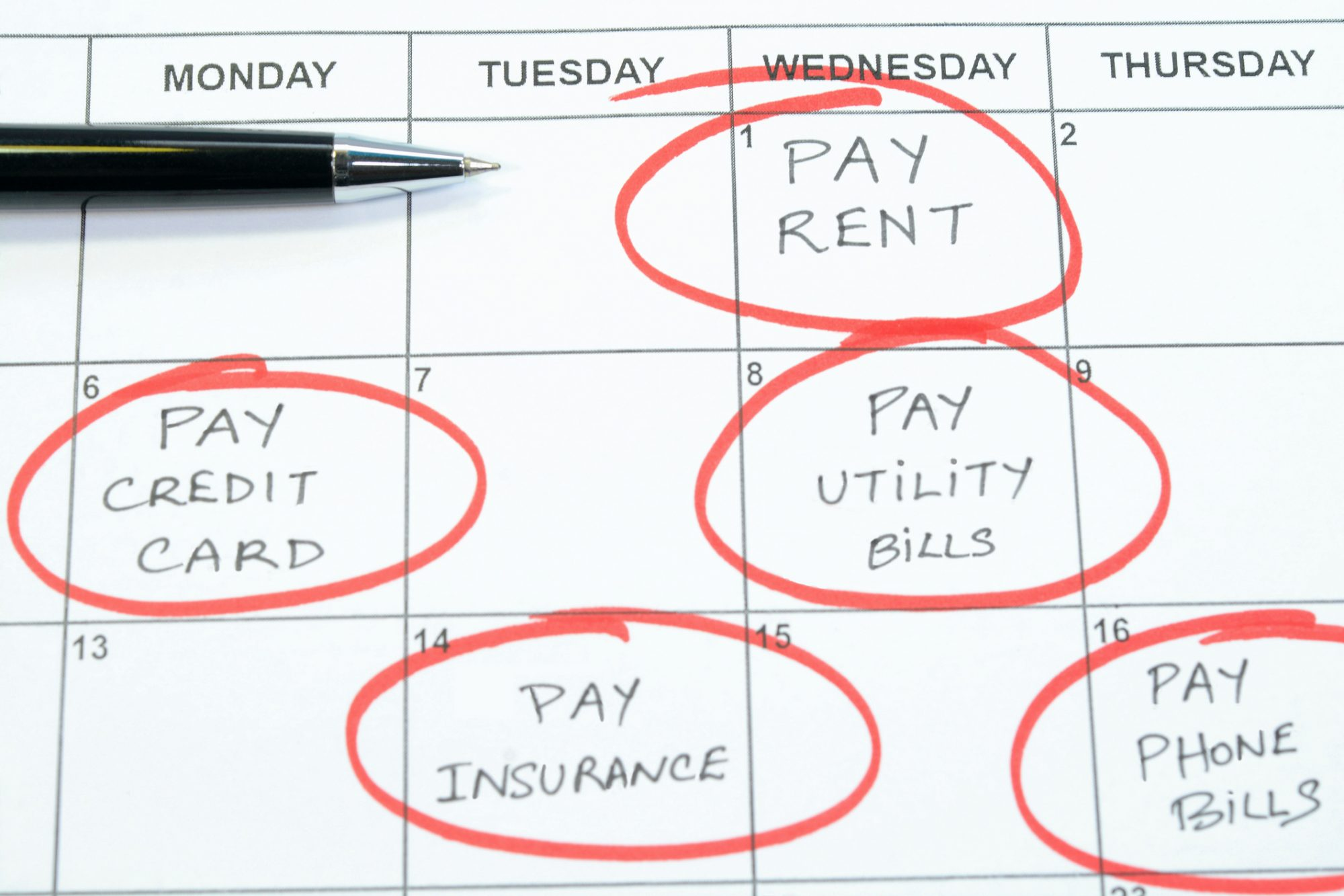 Debt can accumulate interest over time, so if you're carrying high-interest debt, work on paying that off as soon as possible. It's easier said than done, of course, but if you can pay a bill in full instead of partially, do it — the interest you would have accrued by waiting is money that stays in your pocket.
