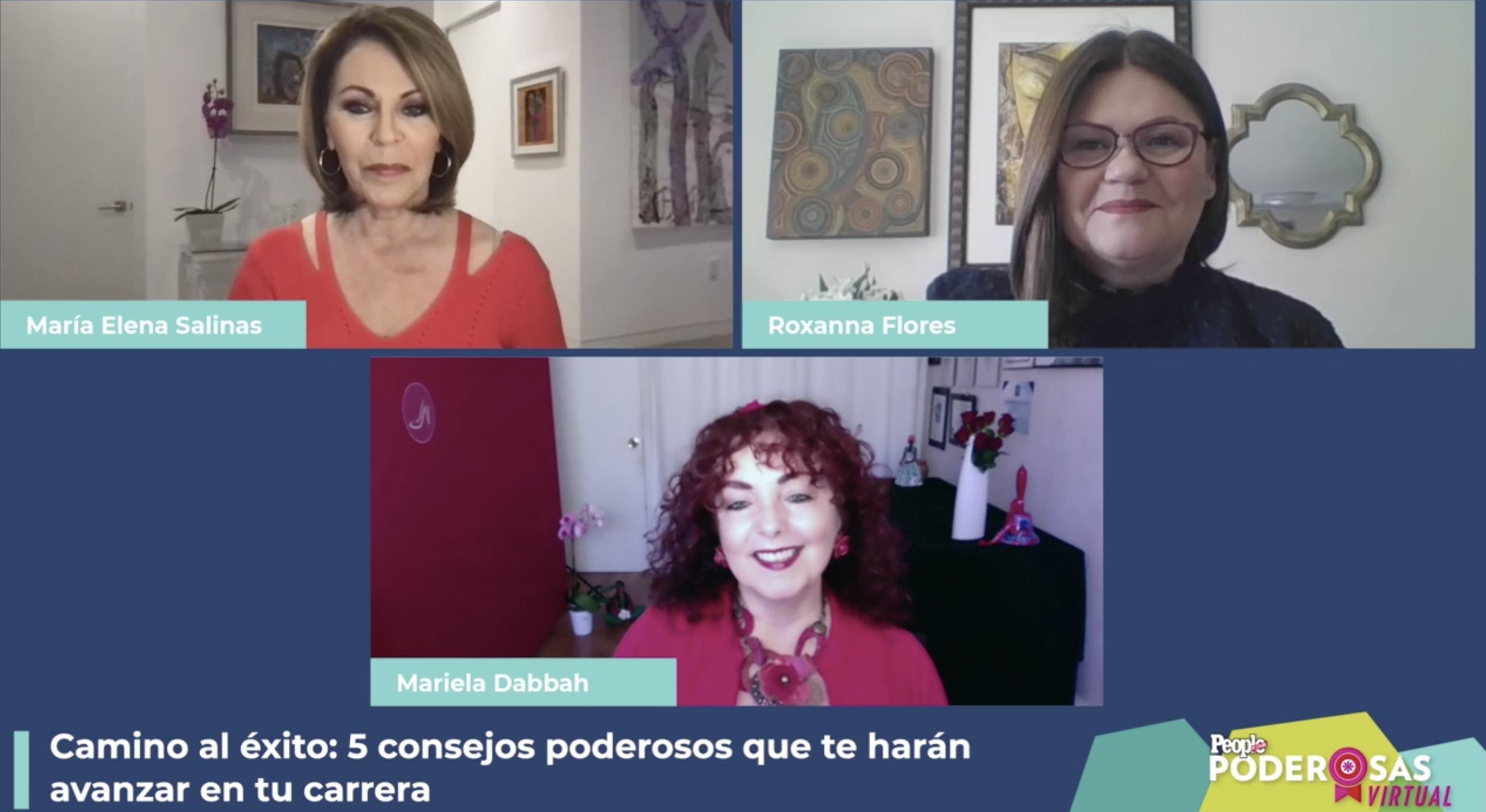 María Elena Salinas, Roxanna Flores y Mariela Dabbah