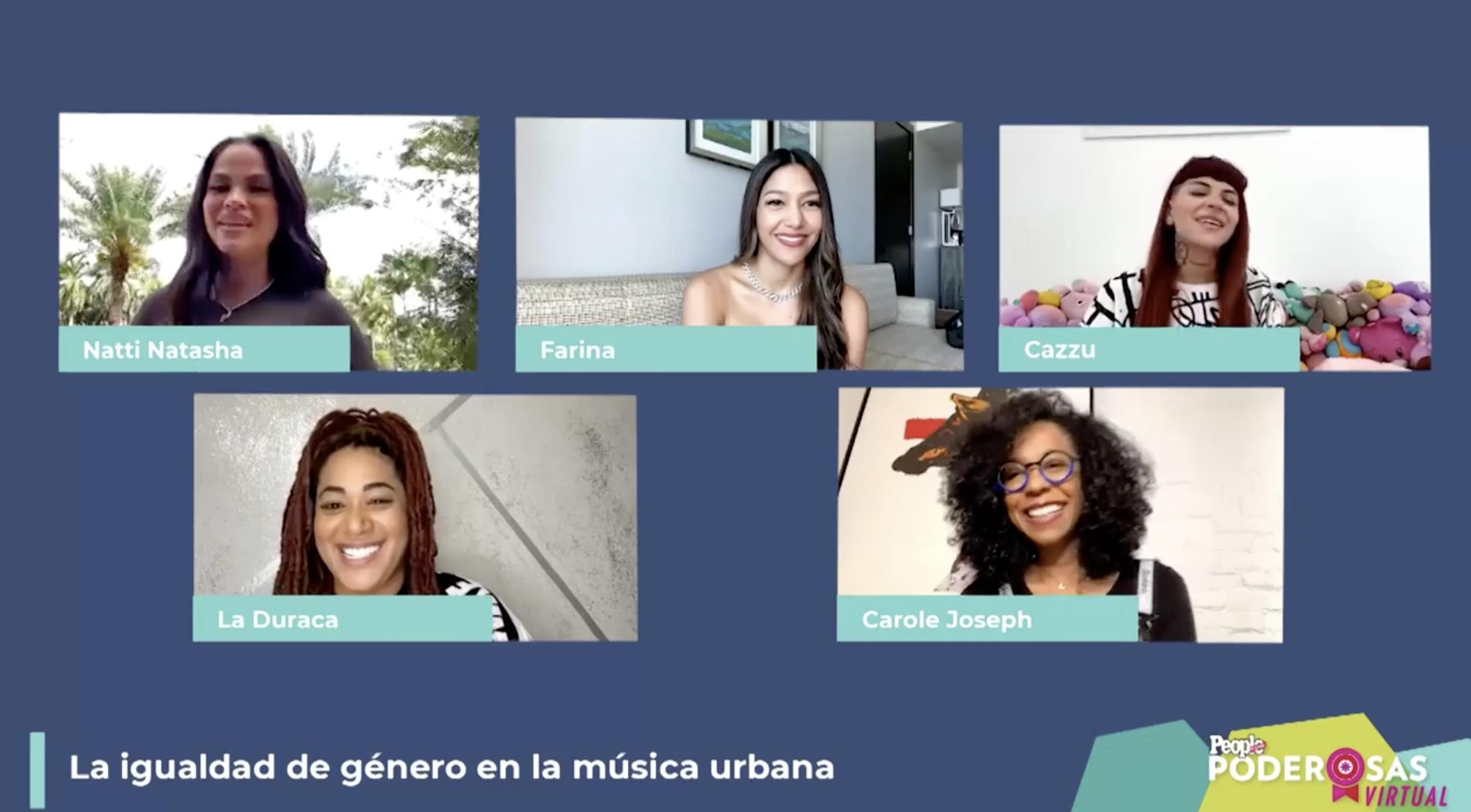 Natti Natasha, Farina, La Duraca y Cazzu