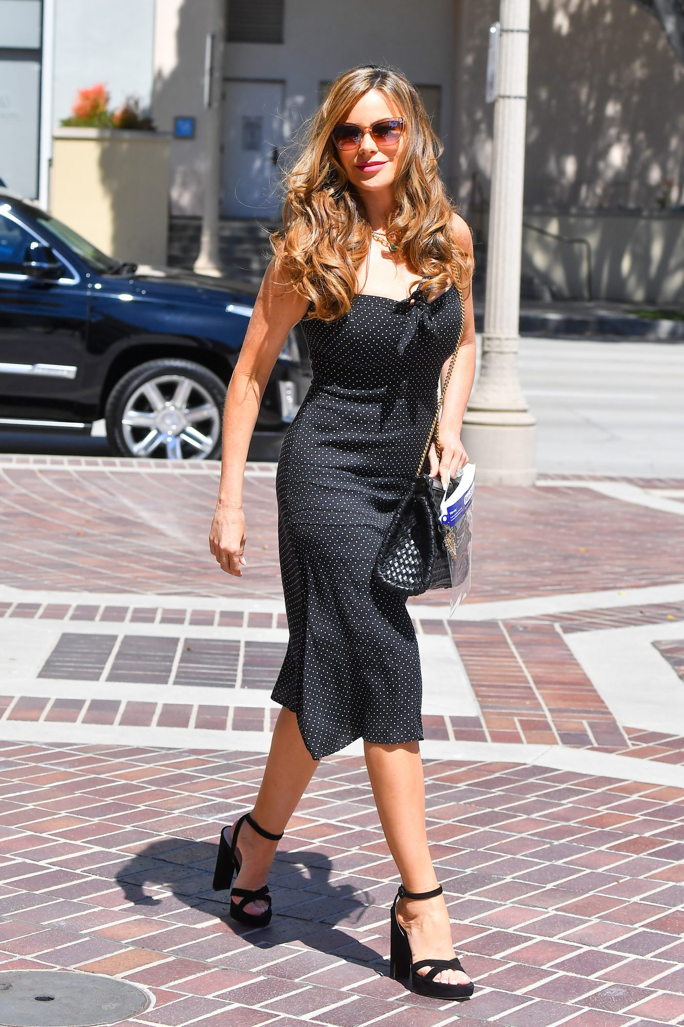 Sofia Vergara, look del dia, vestido negro, anericas got talent