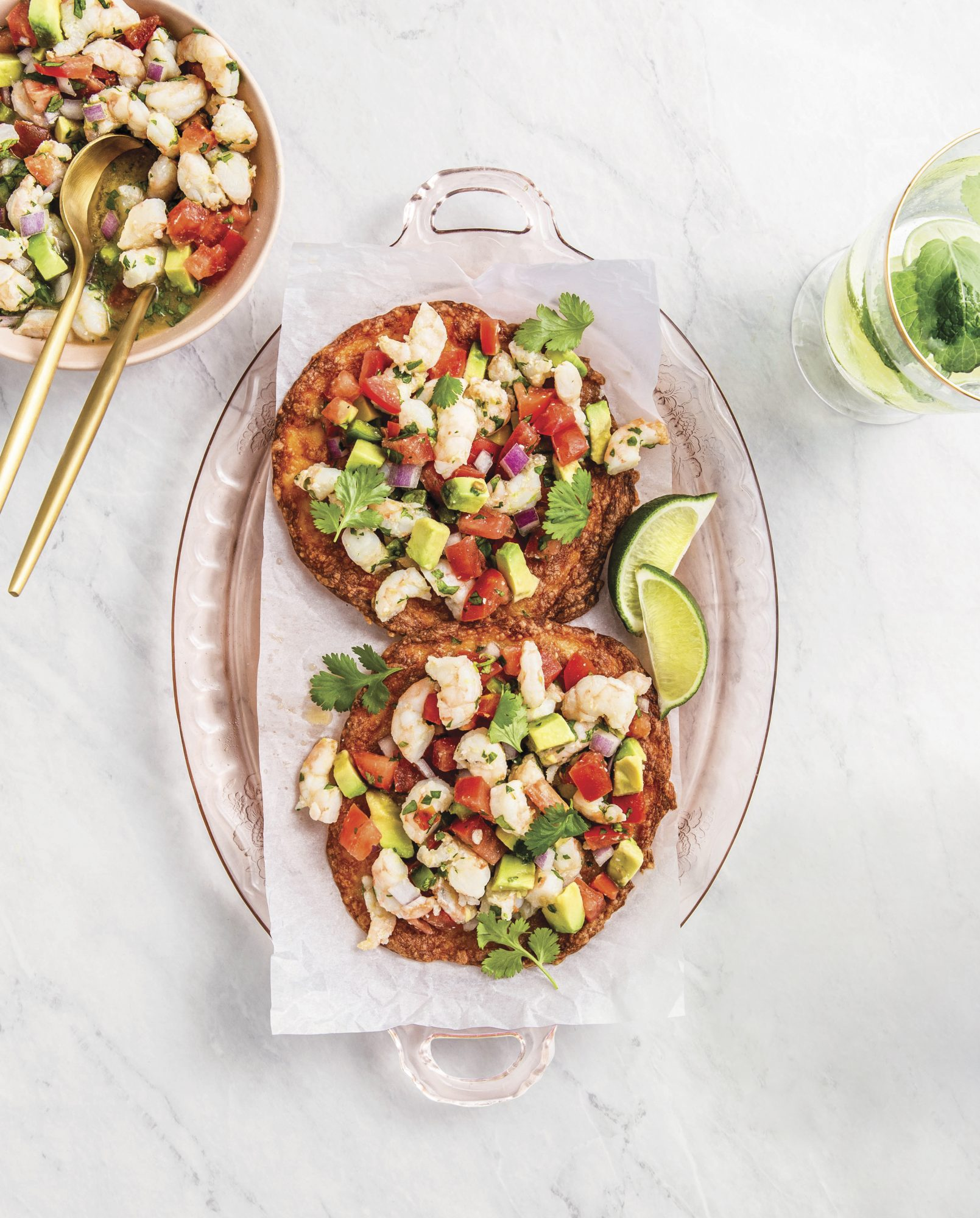 De la dieta de Chiquis: ceviche de camarones con tostadas keto
