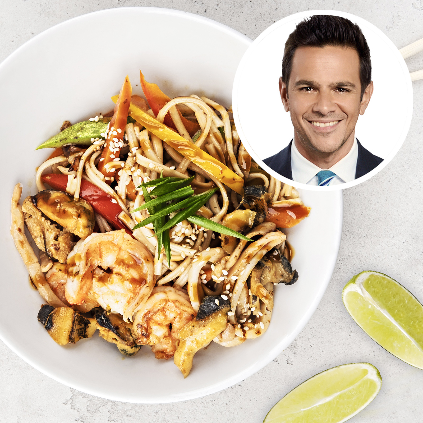 3. Tony Cherchi - Saborealo March 2021 Wok noodles with chicken and shrimp.