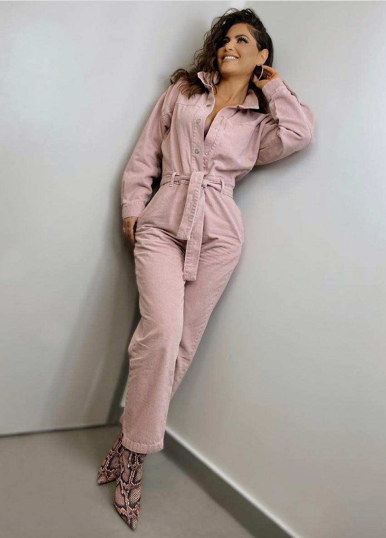 Chiquinquira Delgado, look del dia, jumpsuit rosado